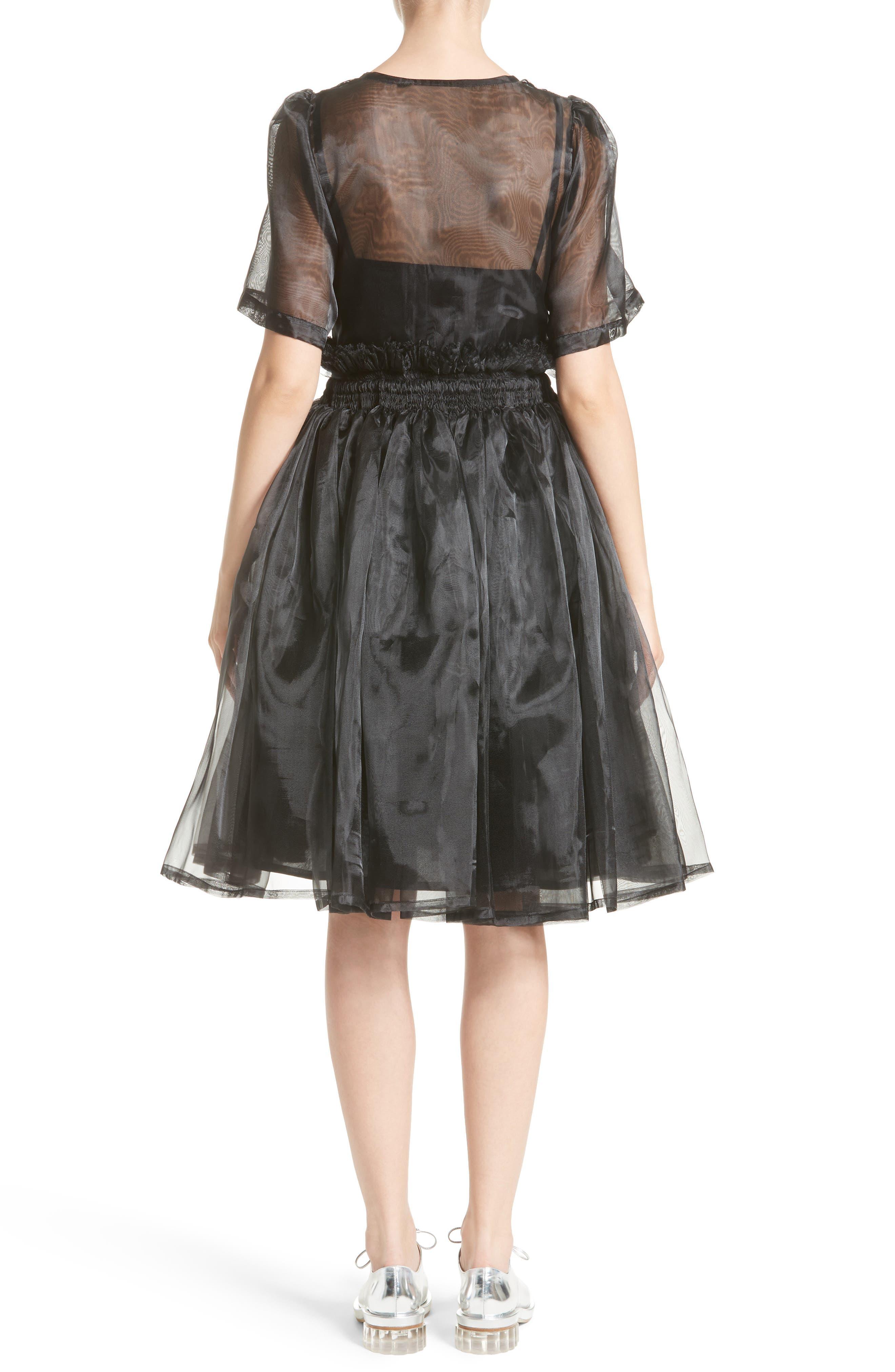 Addison Tulle Dress,                             Alternate thumbnail 2, color,                             Black