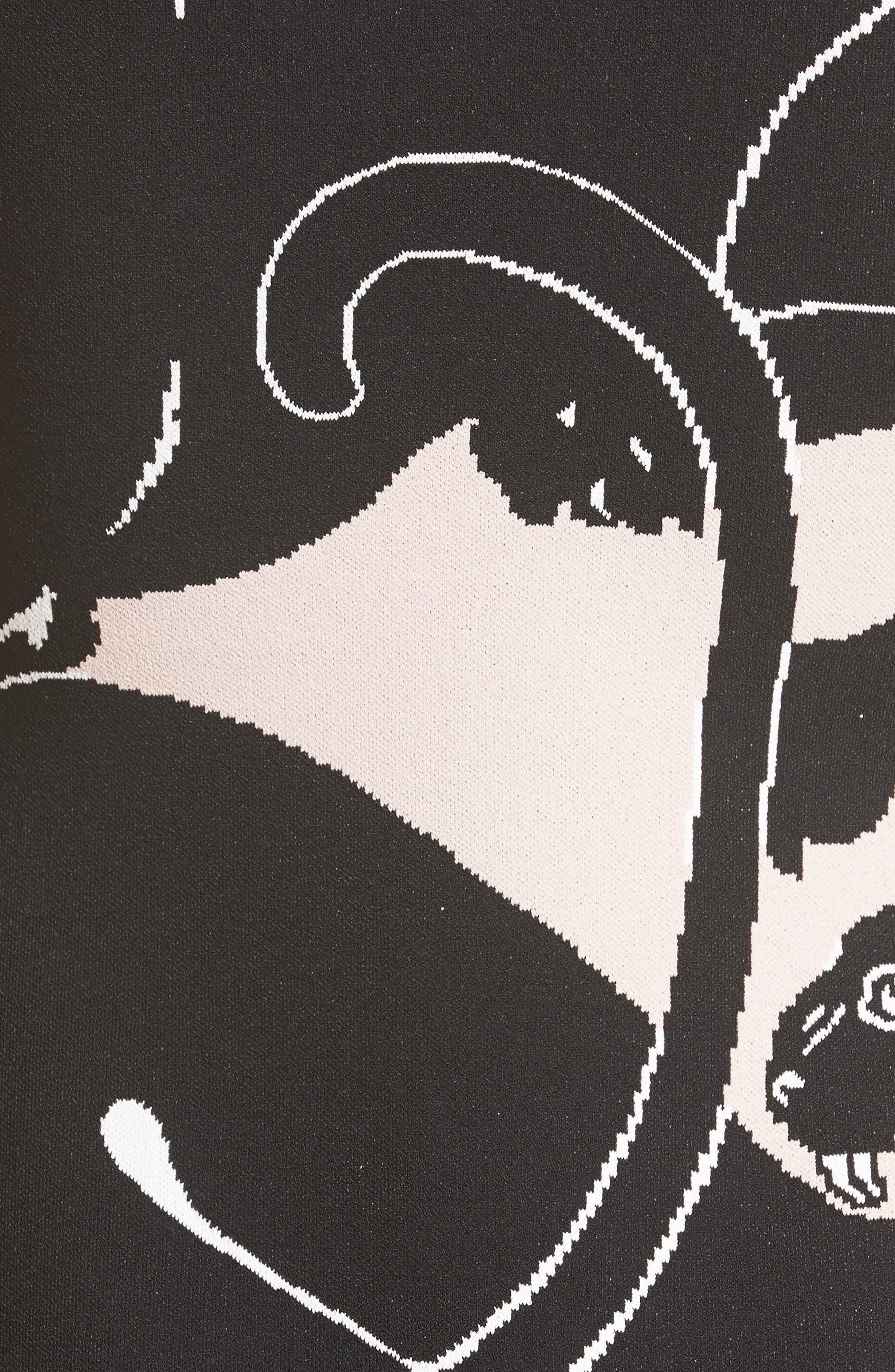 Alternate Image 3  - Valentino Jacquard Panther Print Dress