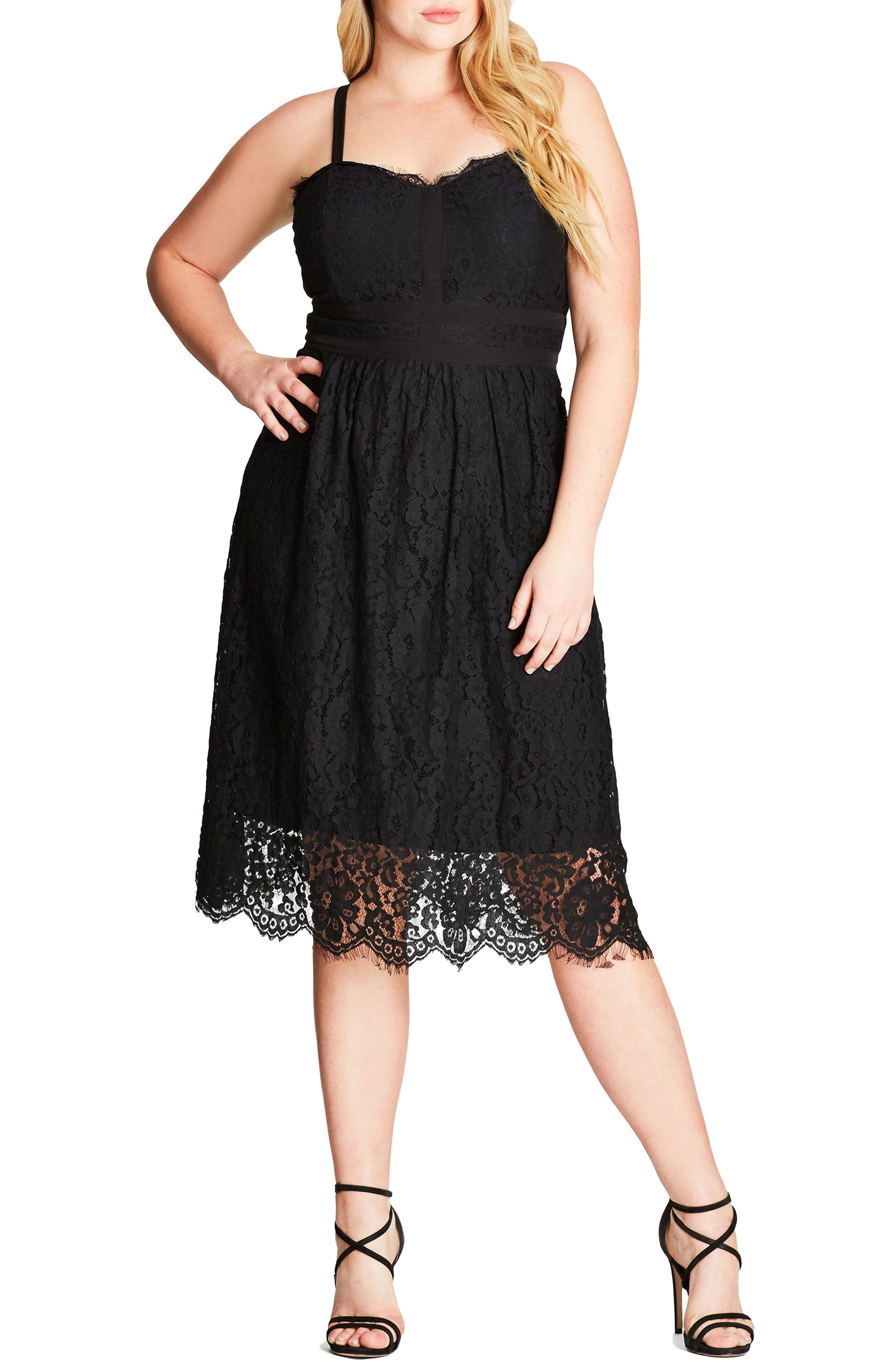 Alternate Image 1 Selected - City Chic Lush Lace Dress (Plus Size)