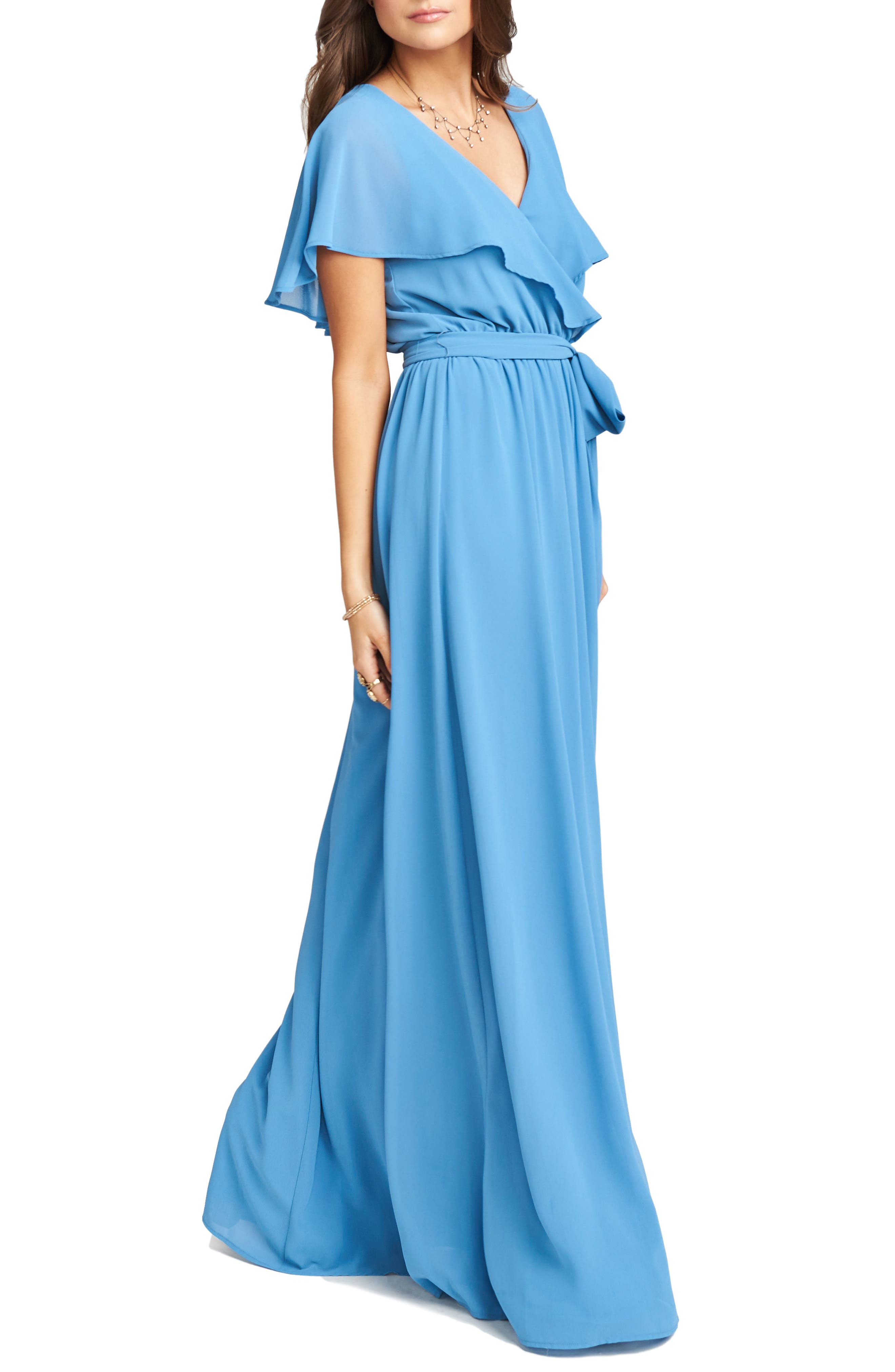 Alternate Image 4  - Show Me Your Mumu Audrey Ruffle Wrap Front Gown