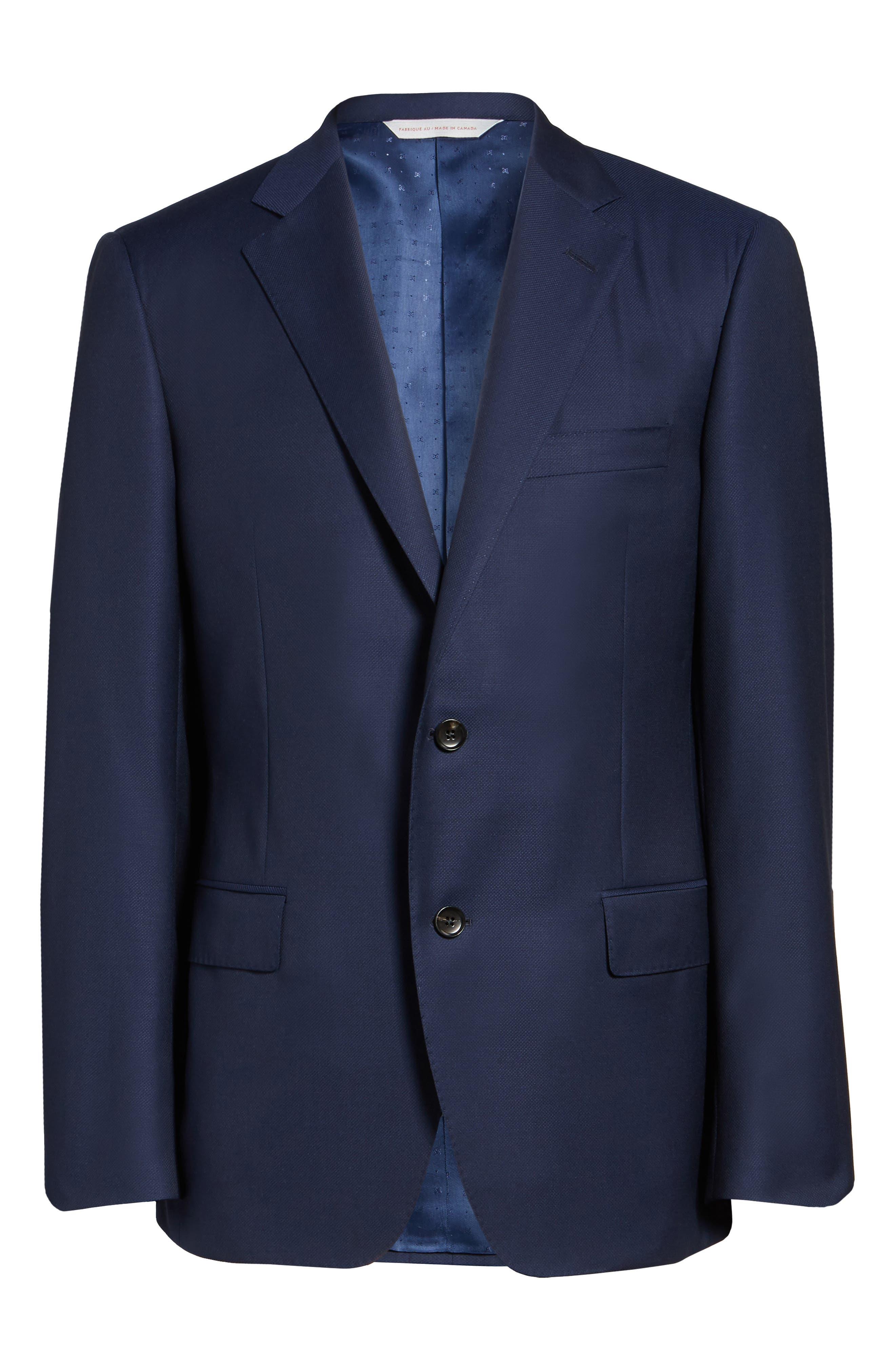 Classic Fit Wool Blazer,                             Alternate thumbnail 5, color,                             Blue