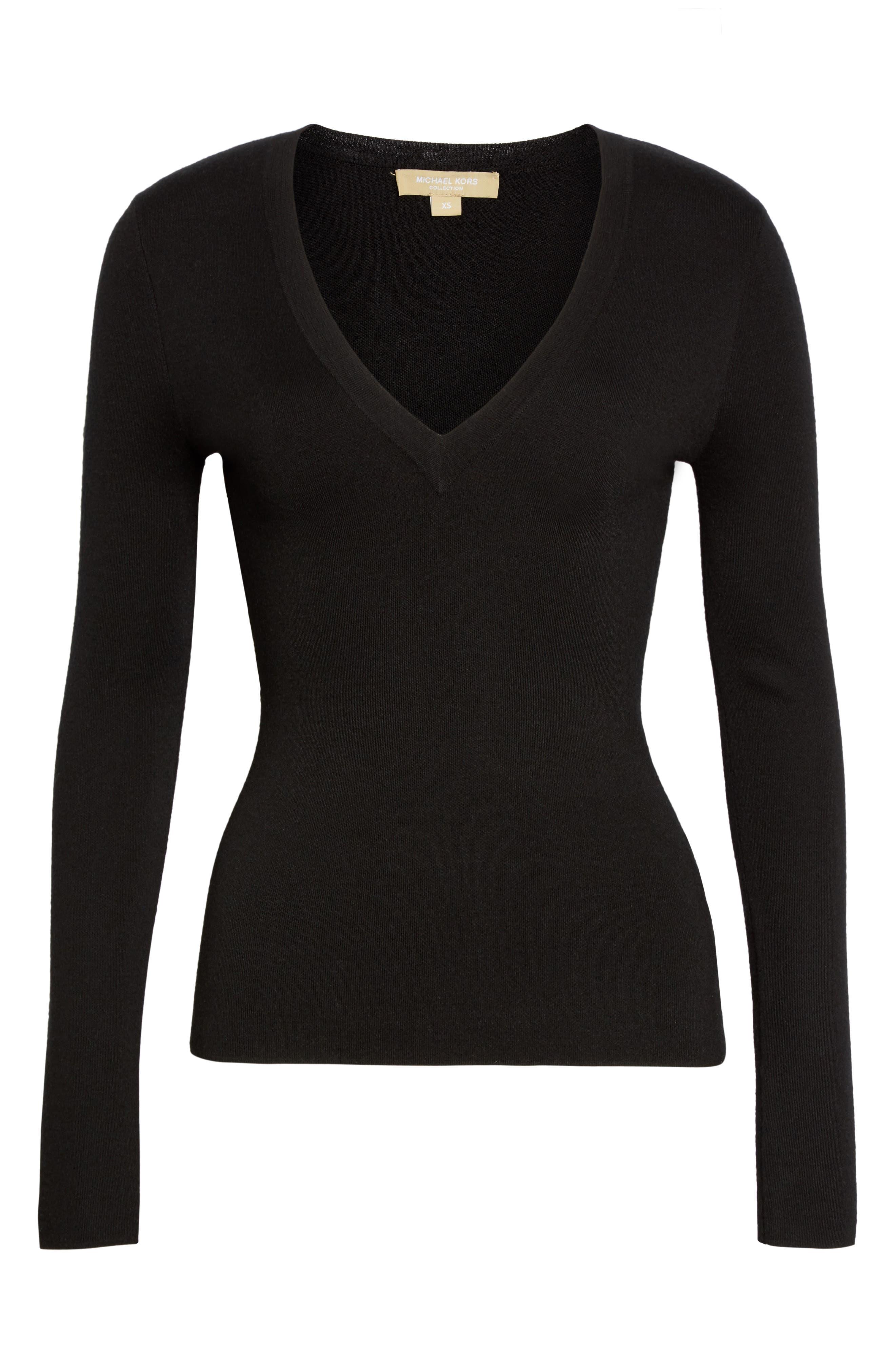 Alternate Image 4  - Michael Kors Cashmere V-Neck Sweater