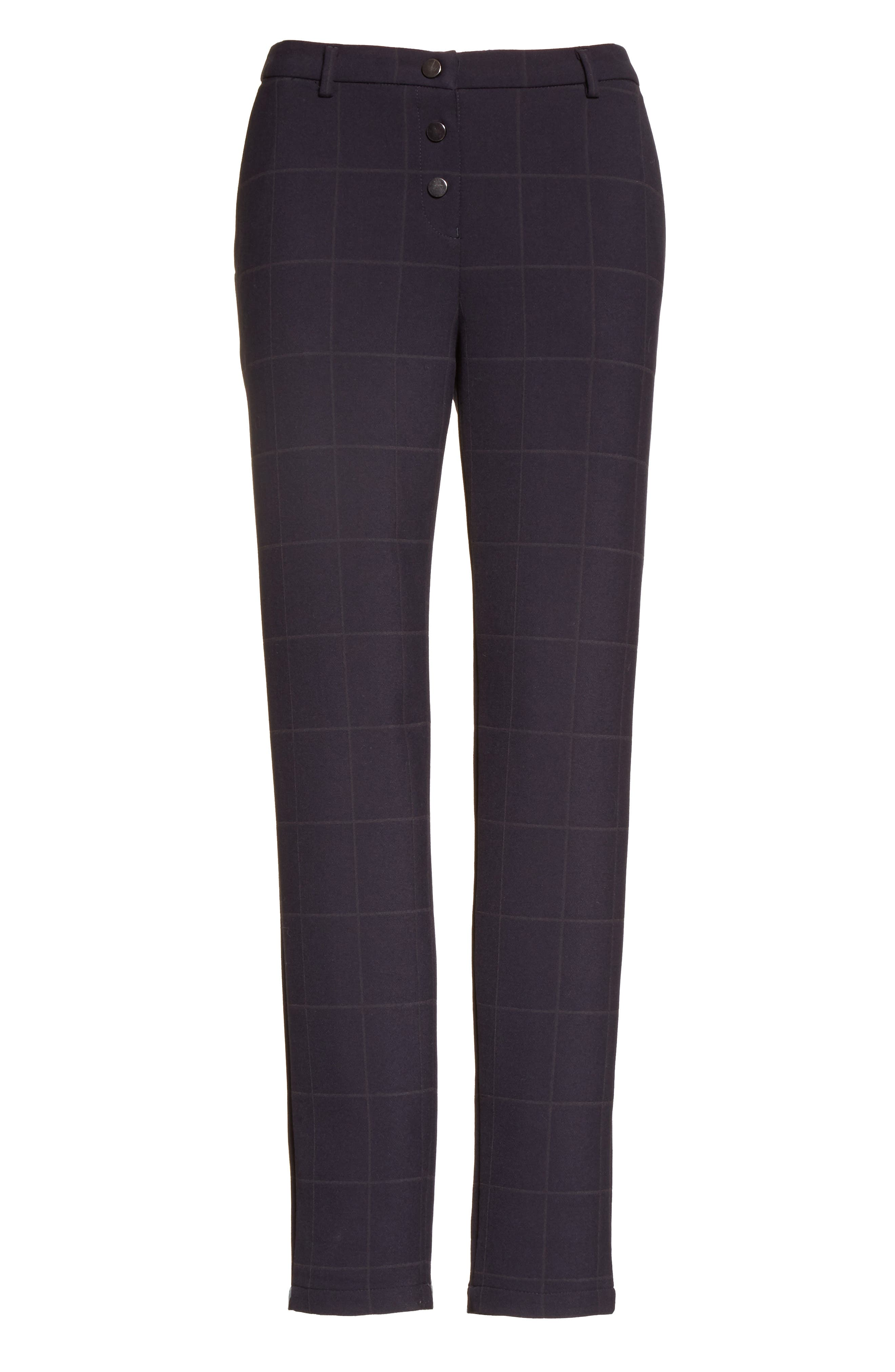 Alternate Image 4  - Armani Collezioni Windowpane Plaid Pants