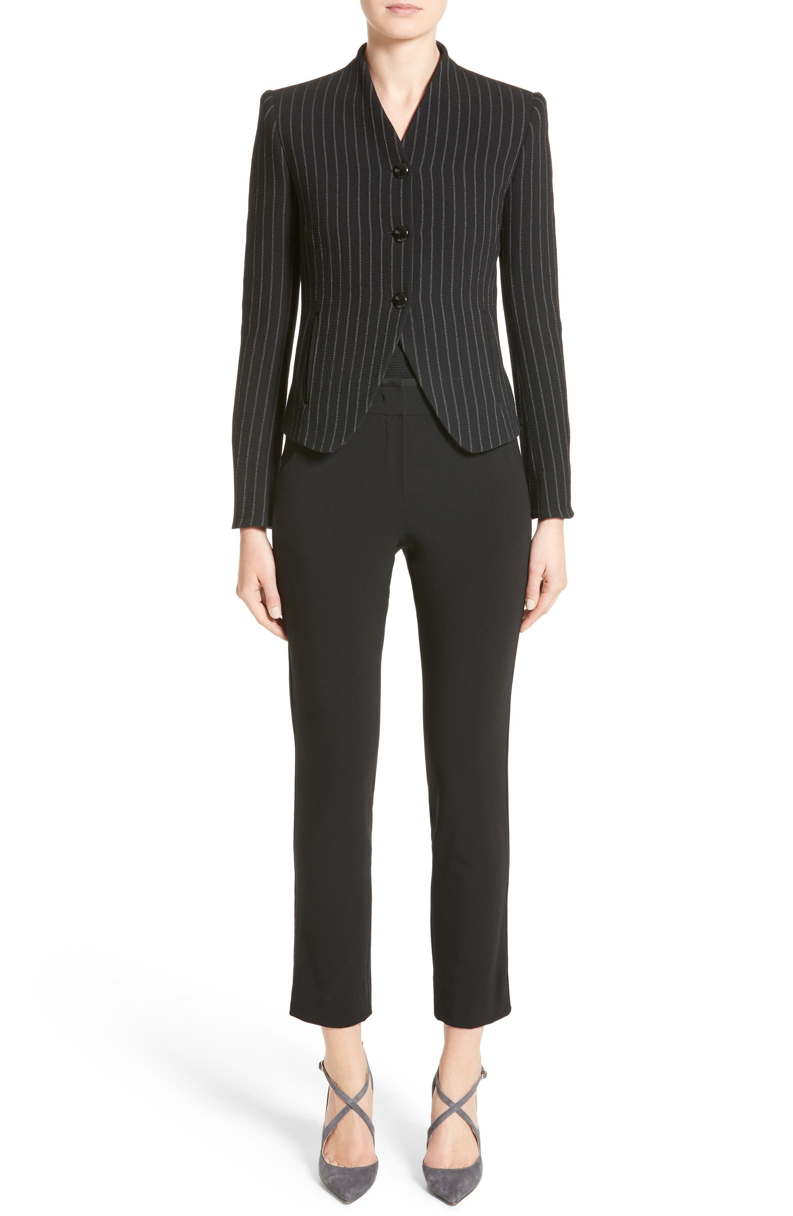 Alternate Image 7  - Armani Collezioni Stretch Wool Pants
