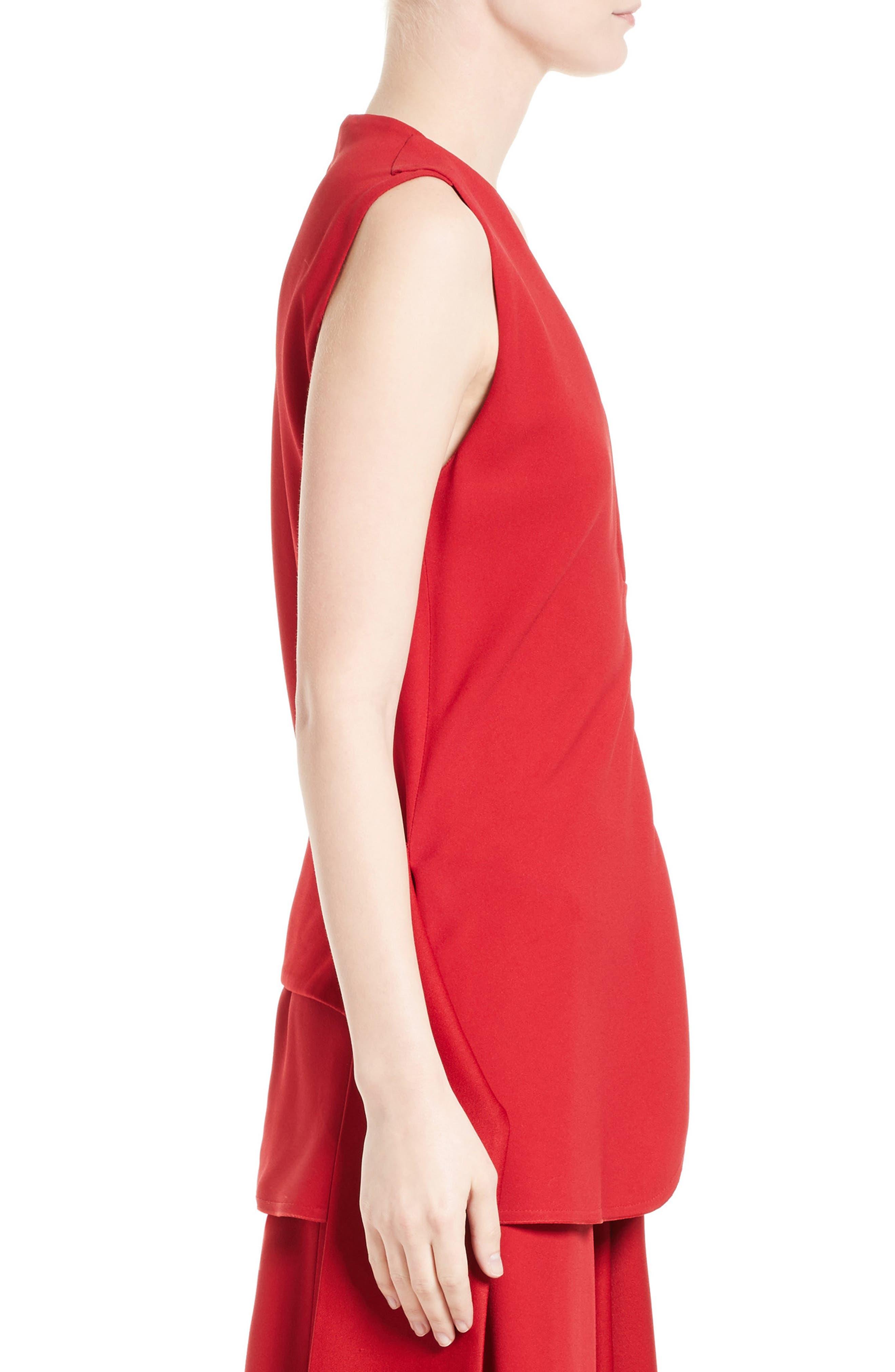 Alternate Image 4  - Victoria Beckham Satin Crepe Drape Top