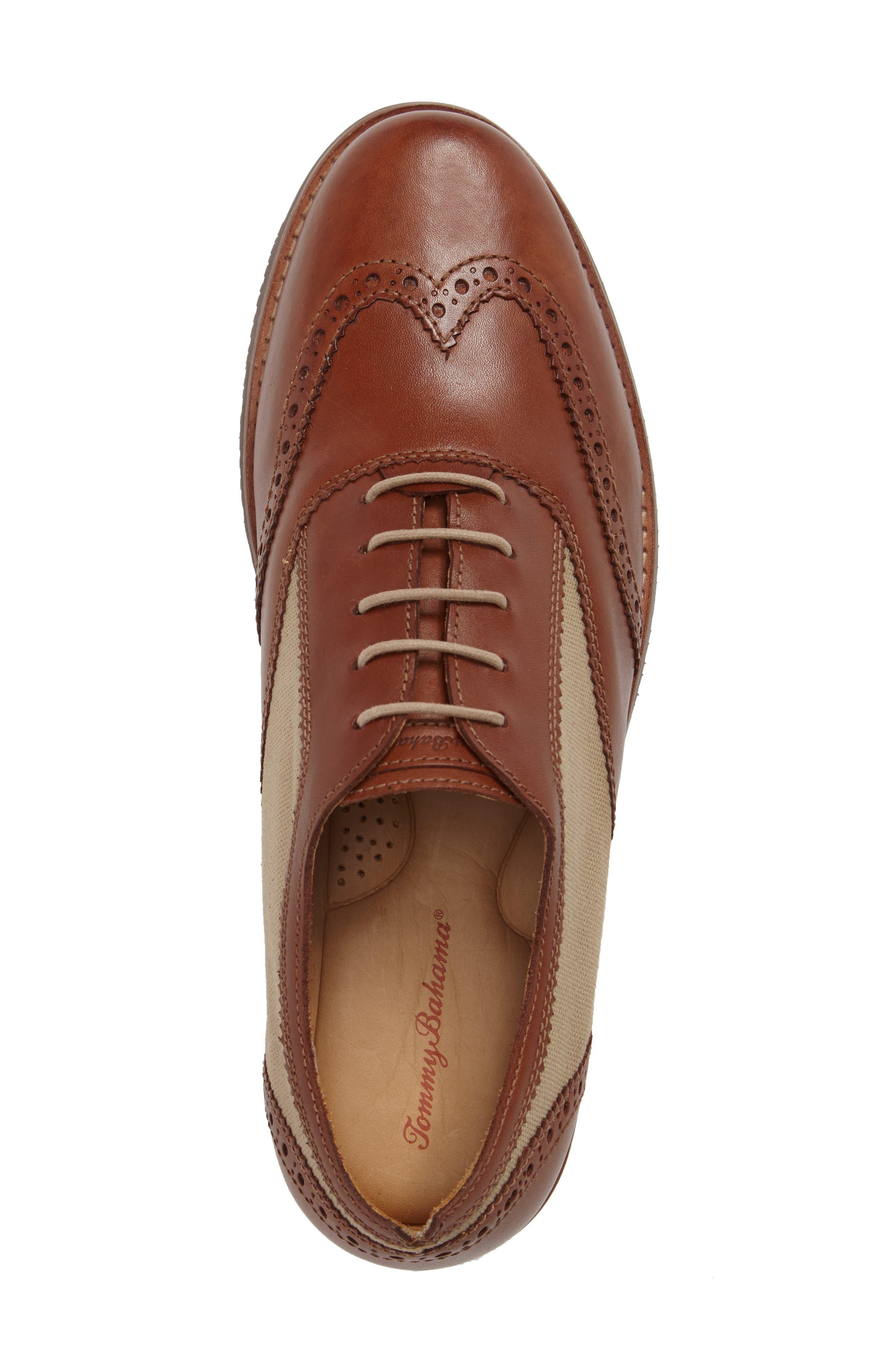 Felman Wingtip,                             Alternate thumbnail 5, color,                             Whiskey Leather