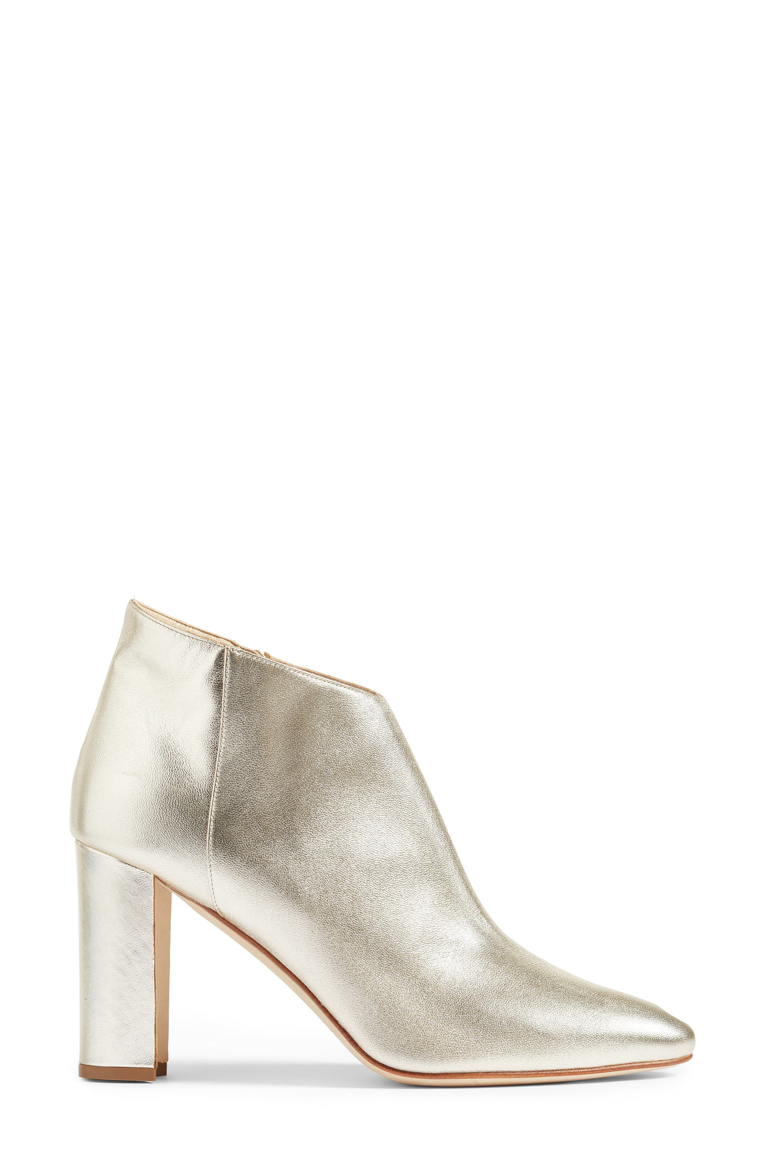 'Brusta'  Bootie,                             Alternate thumbnail 3, color,                             Light Gold Leather