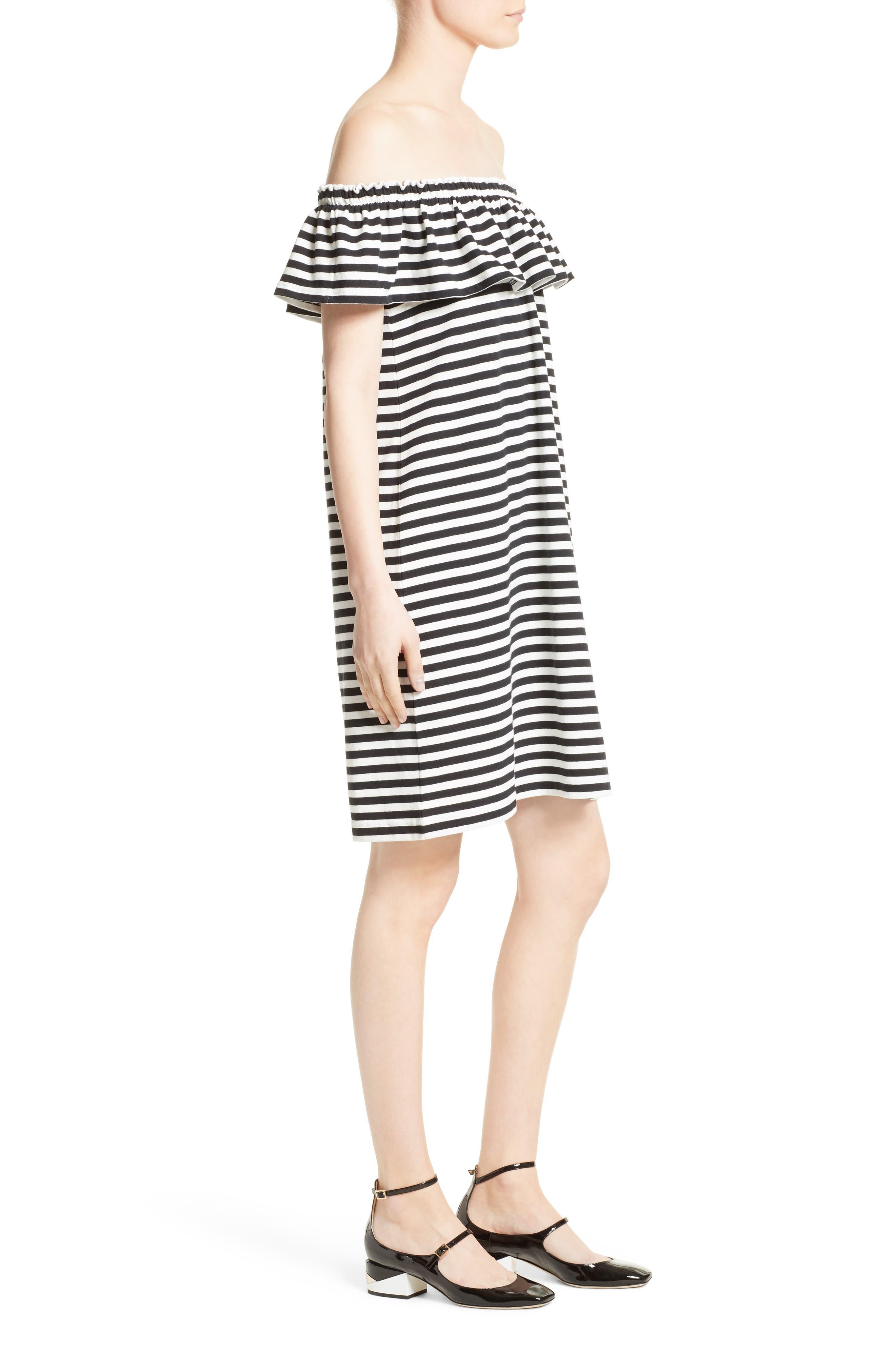 Alternate Image 3  - kate spade new york stripe knit off the shoulder dress