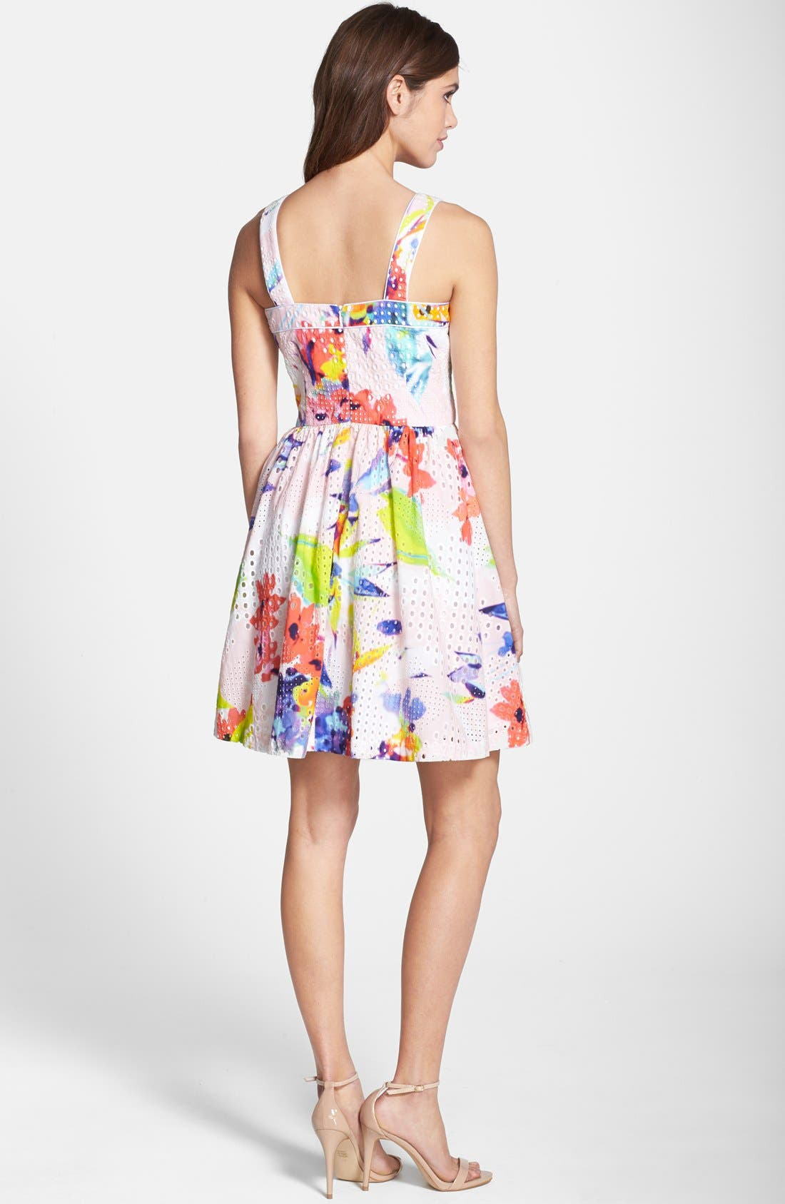 Alternate Image 2  - Trina Turk 'Elin' Print Cotton Eyelet Fit & Flare Dress