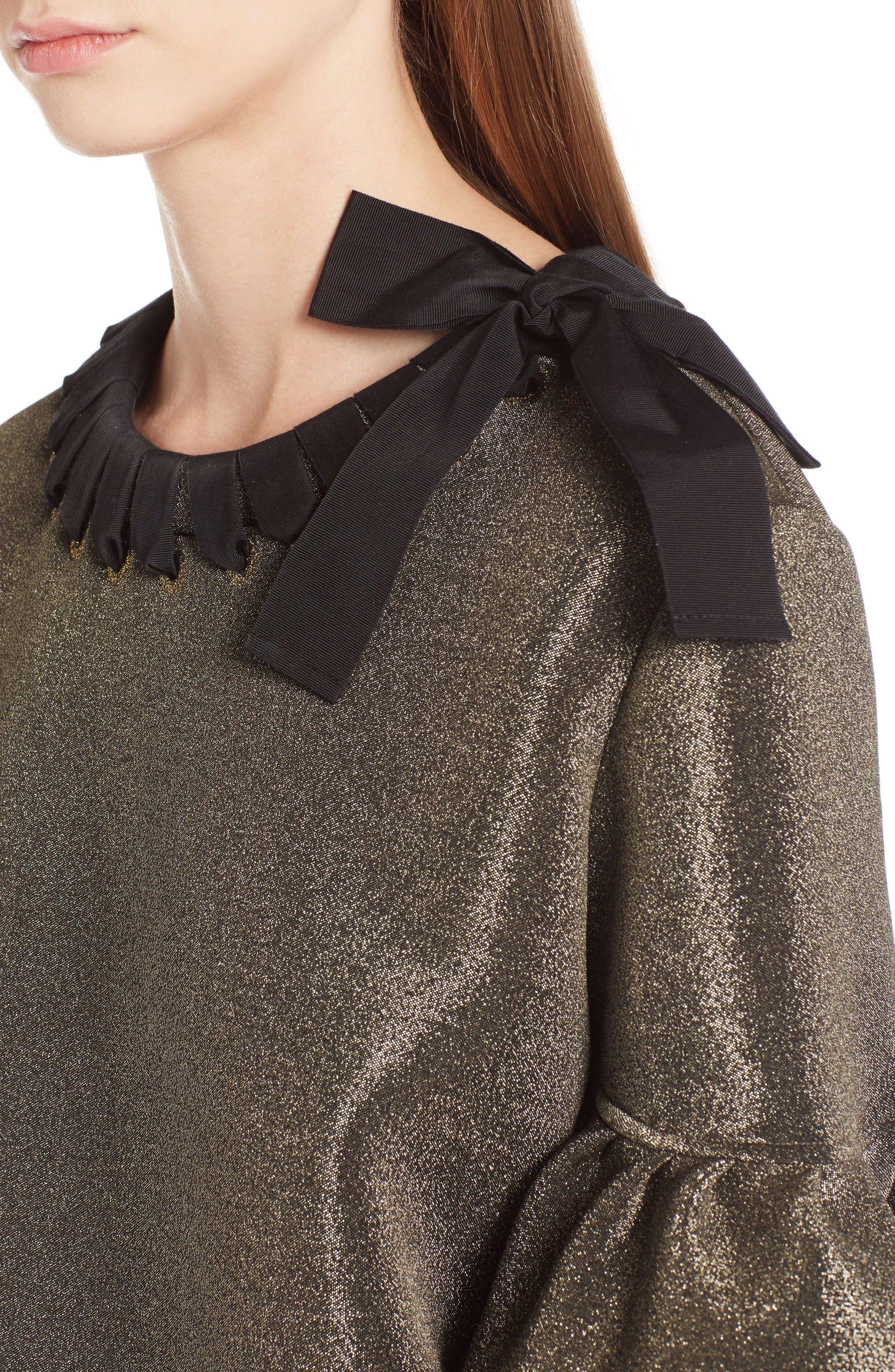 Alternate Image 6  - Fendi Metallic Neoprene Bell Sleeve Top