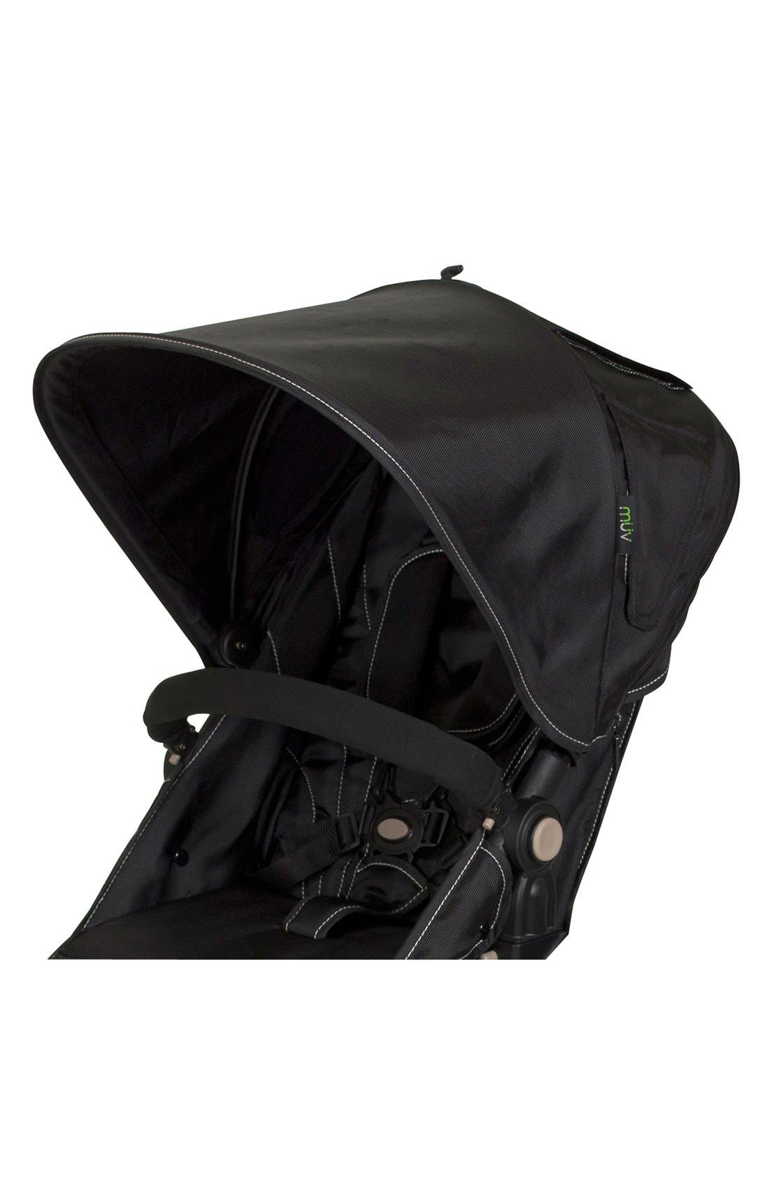 KOEPEL Stroller Canopy,                         Main,                         color, Mystic Black