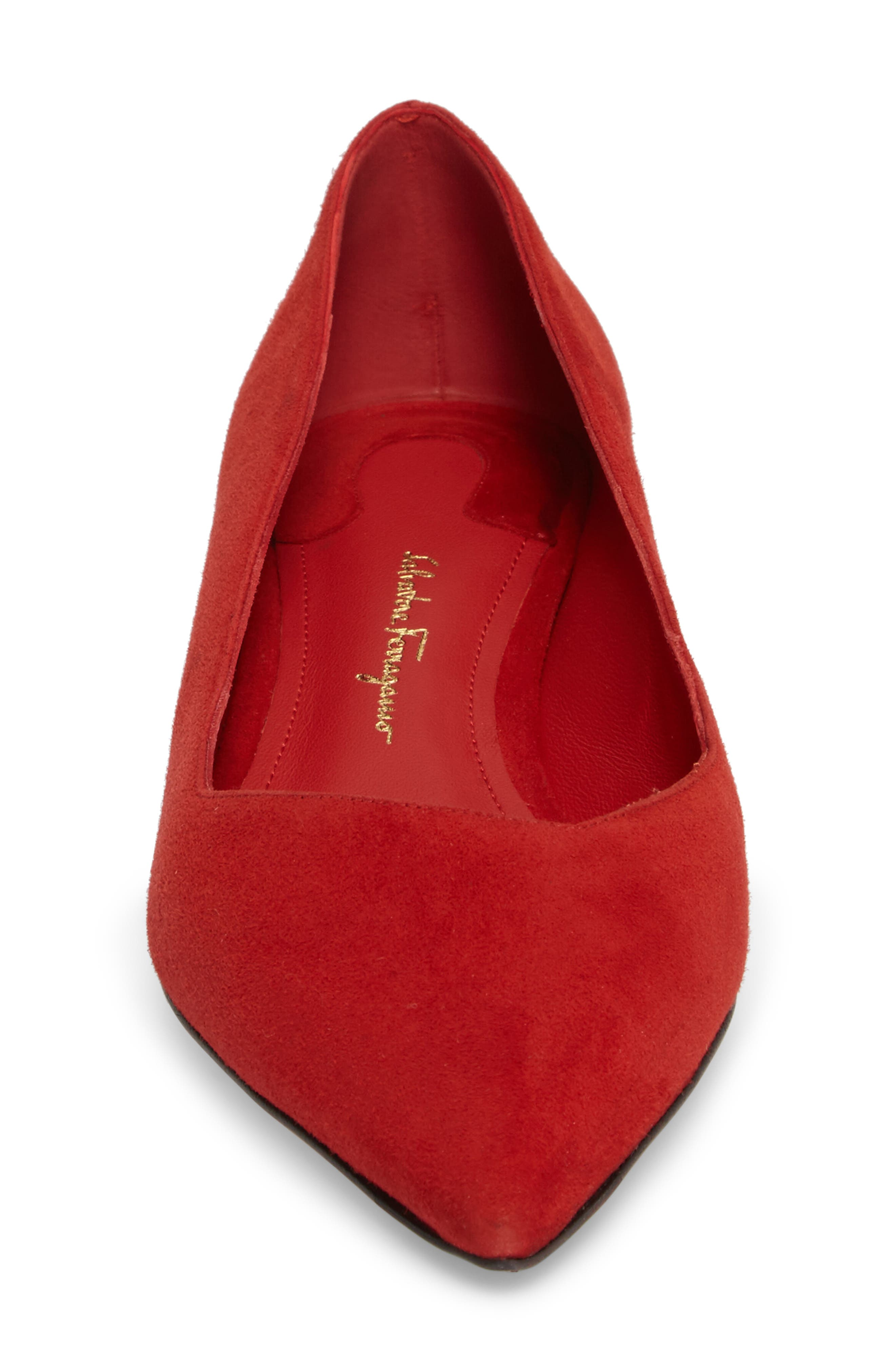 Alternate Image 4  - Salvatore Ferragamo Flower Heel Pump (Women)