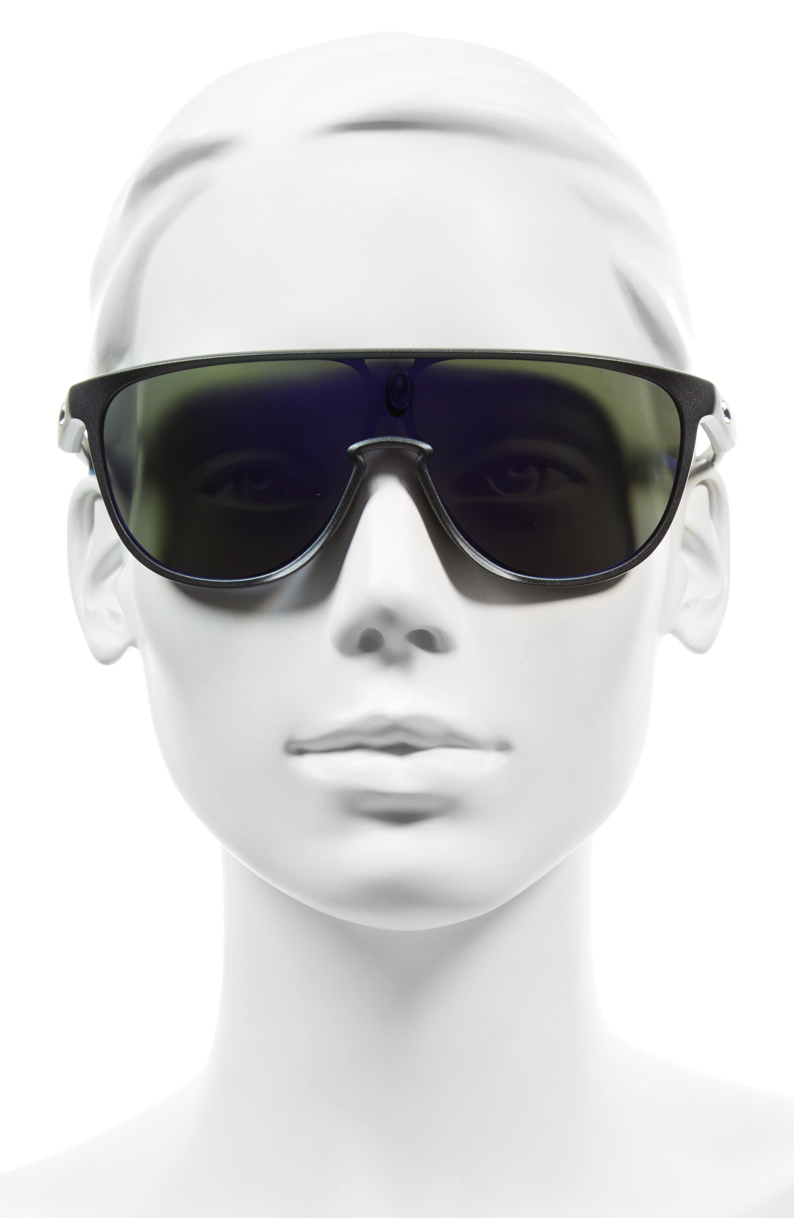 Trillbe 140mm Shield Sunglasses,                             Alternate thumbnail 2, color,                             Steel/ Violet Iridium