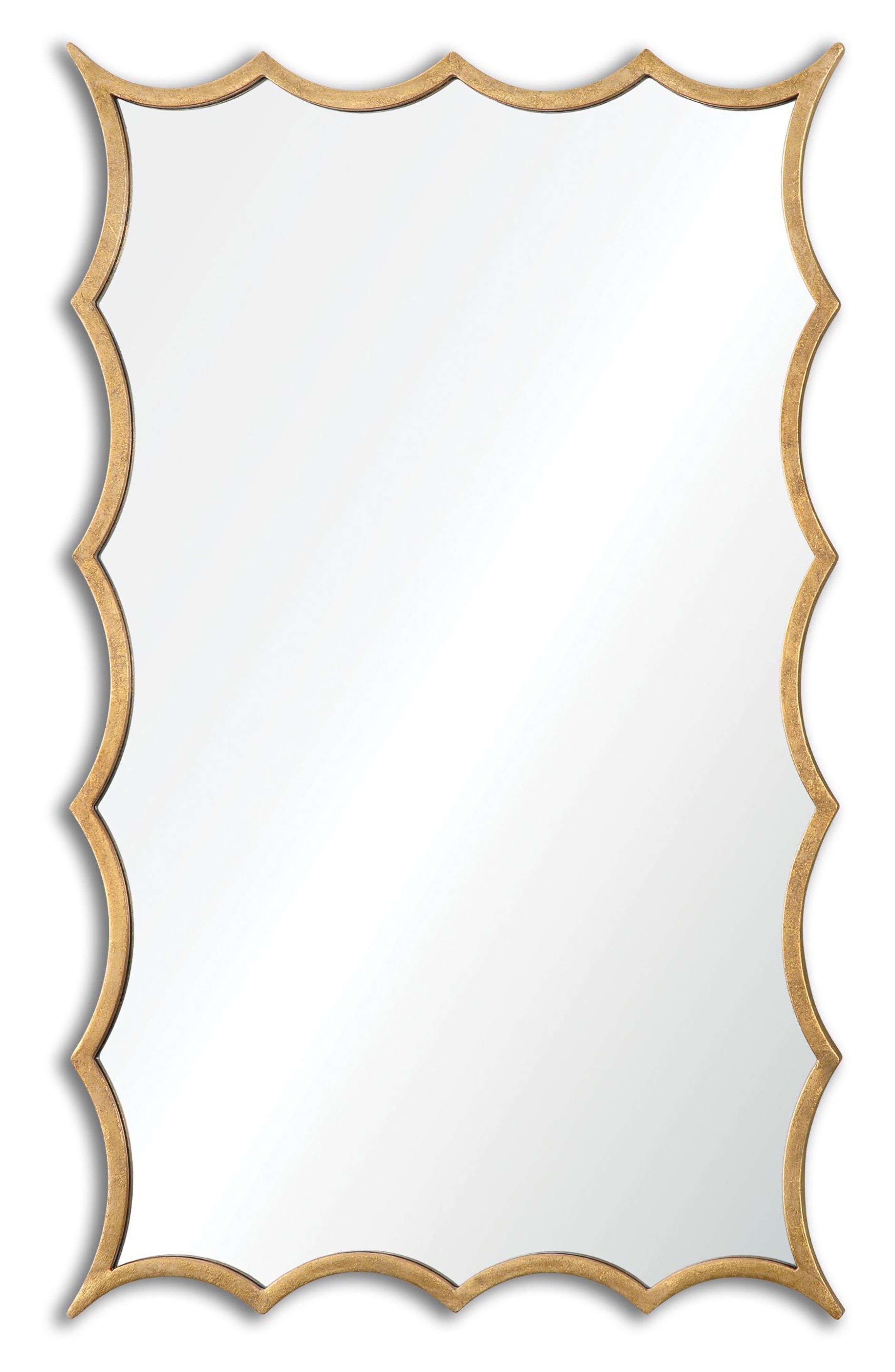 Dareios Wall Mirror,                             Main thumbnail 1, color,                             Metallic Gold