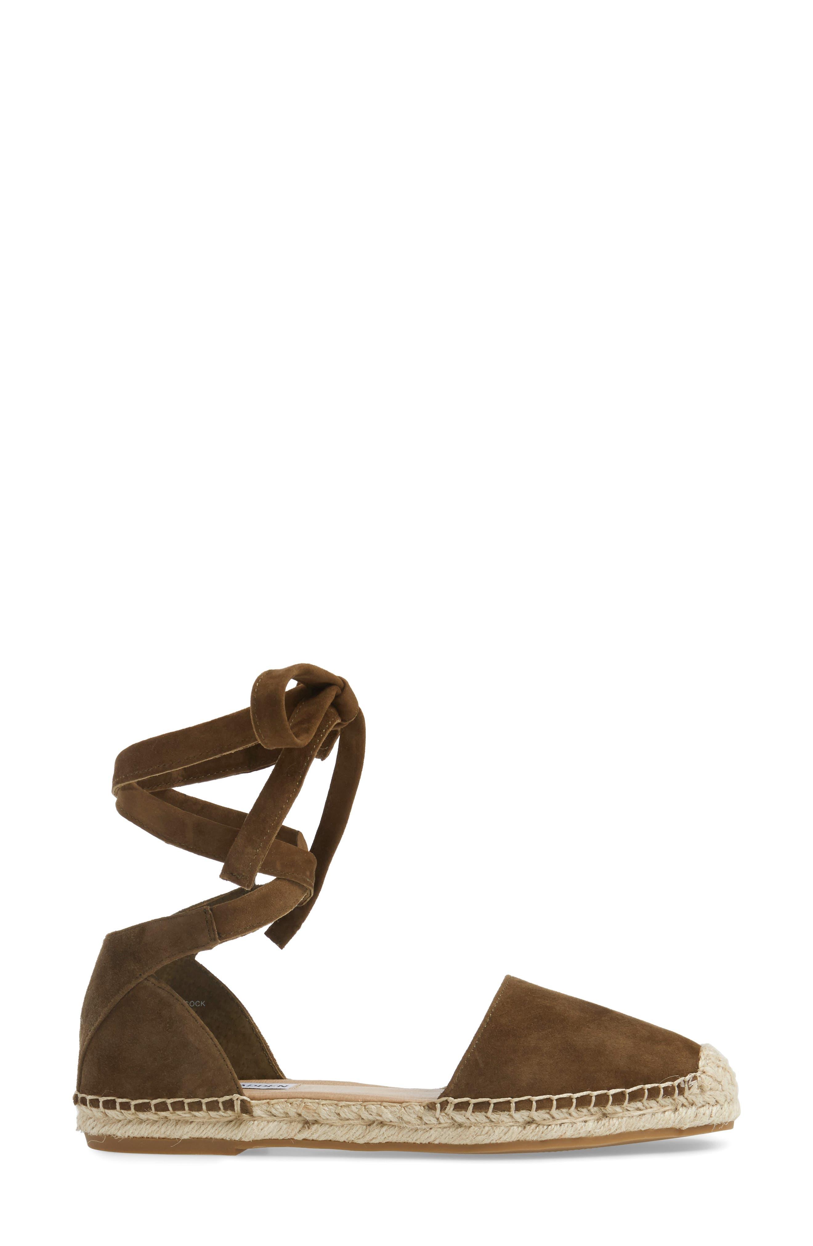 Alternate Image 3  - Steve Madden Rosette Ankle Wrap Espadrille Flat (Women)