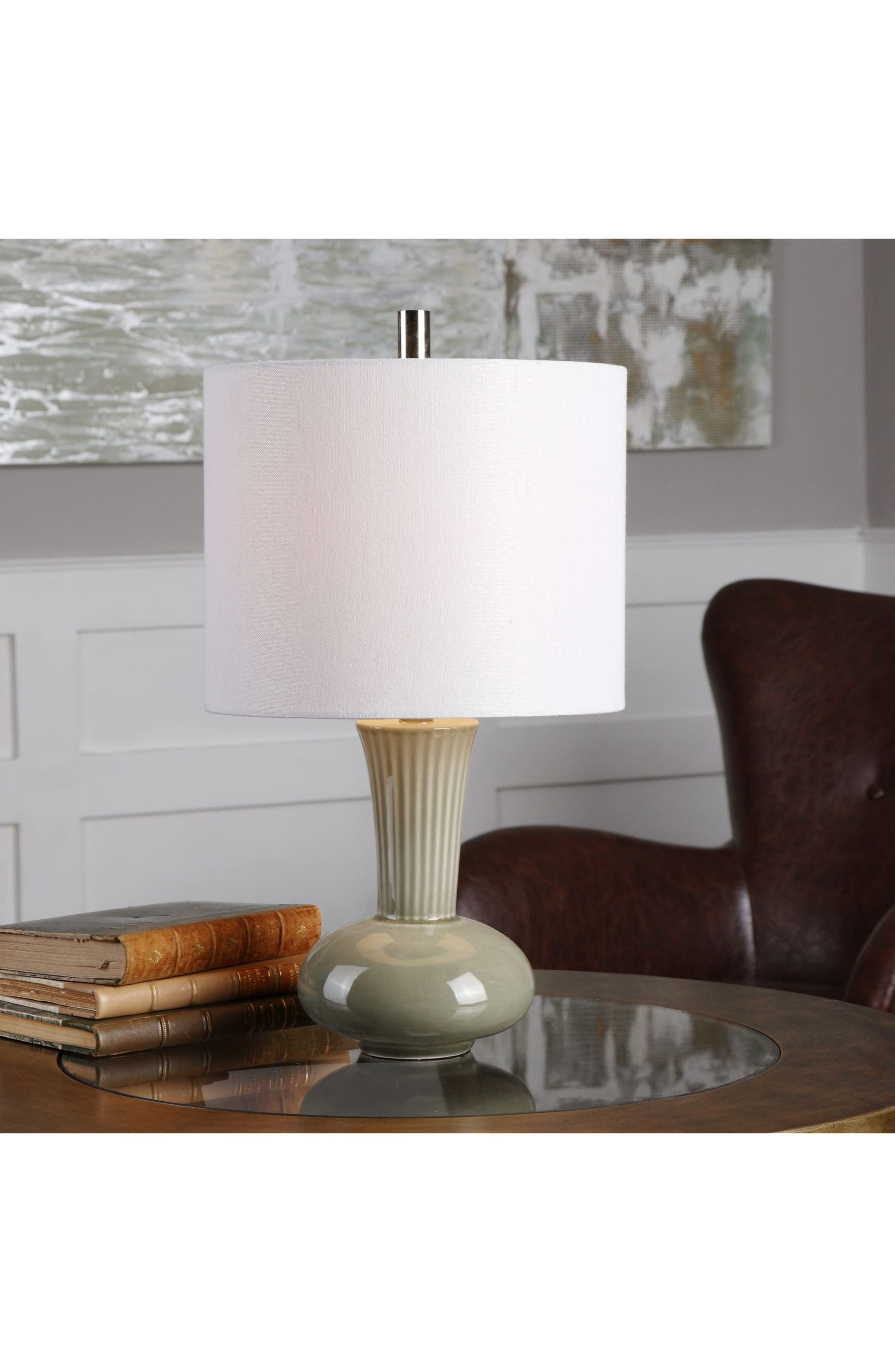 Luray Table Lamp,                             Alternate thumbnail 2, color,                             Green