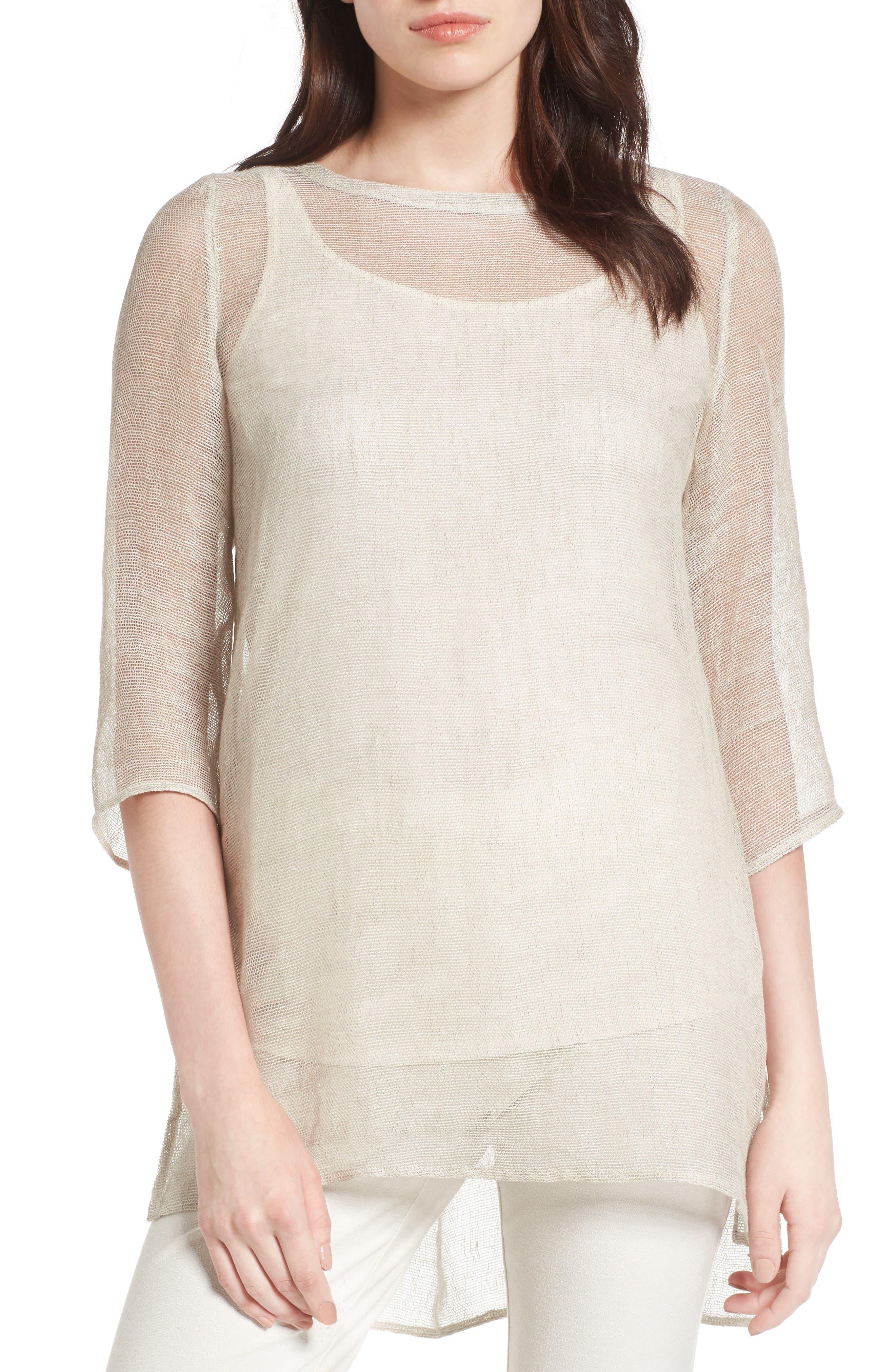 Organic Linen Blend Tunic,                         Main,                         color, Unnatural