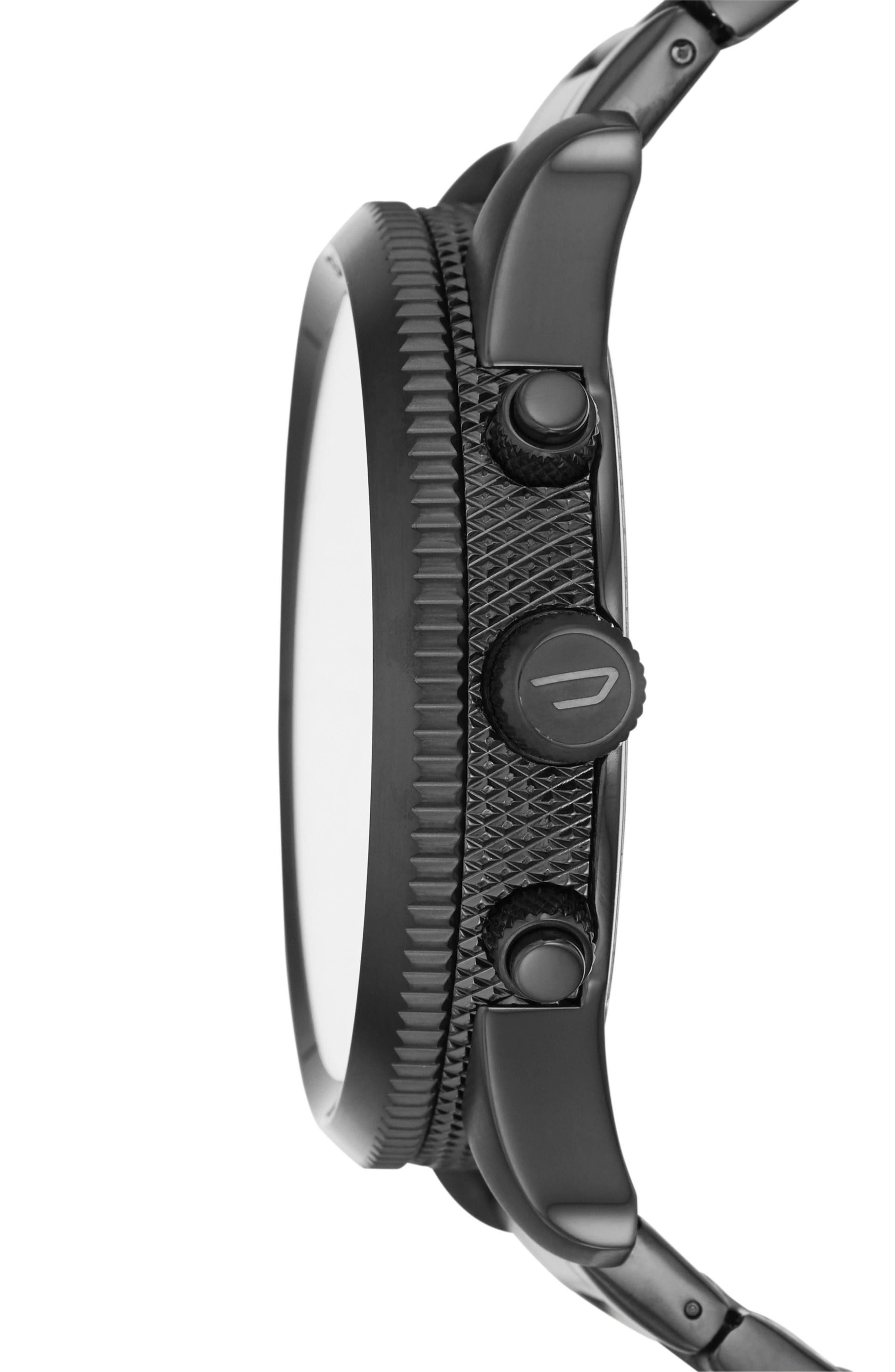 Rasp Chronograph Bracelet Watch, 46mm,                             Alternate thumbnail 2, color,                             Gunmetal/Black