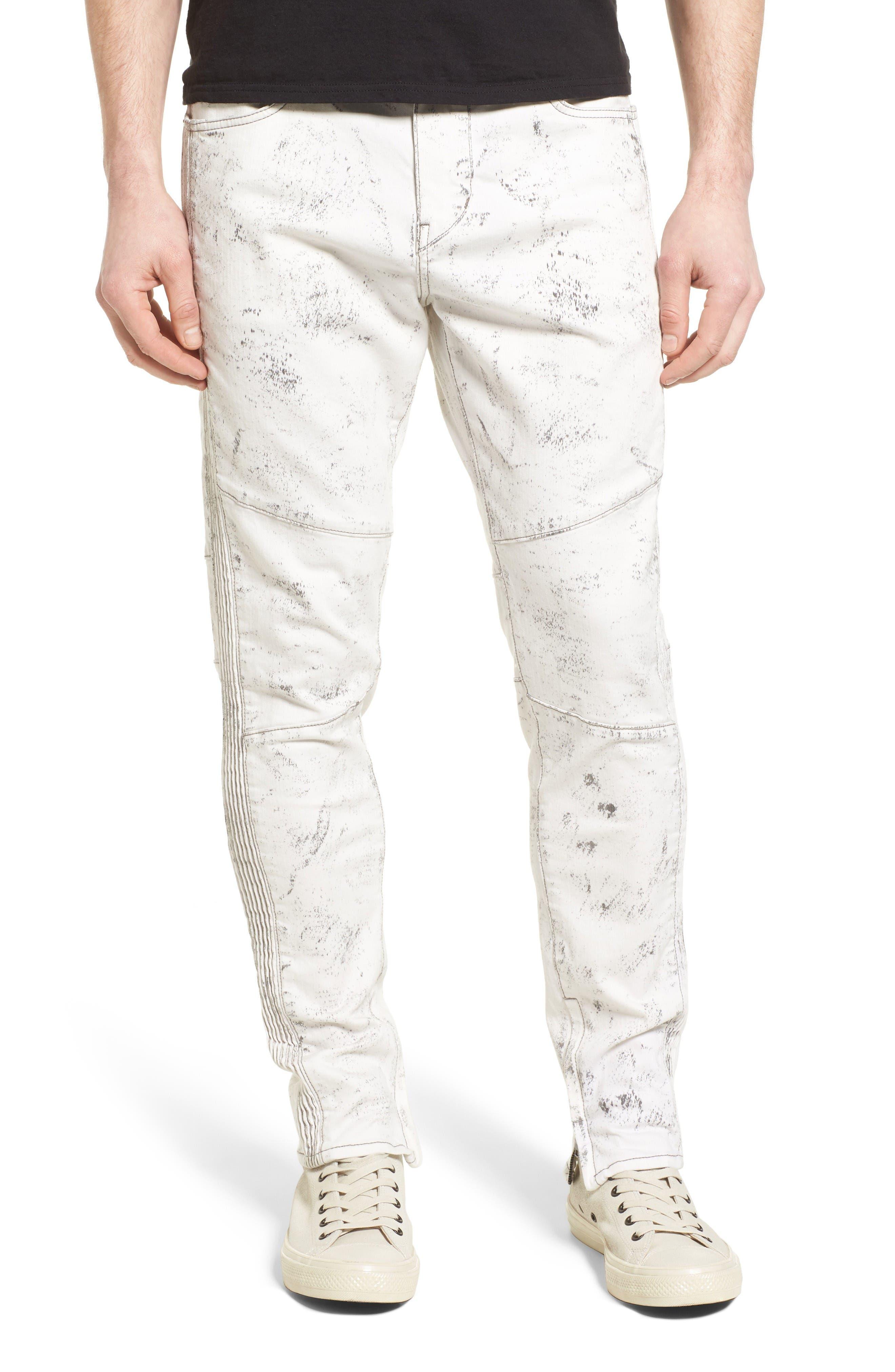 Main Image - True Religion Racer Skinny Fit Jeans (Black Sand)
