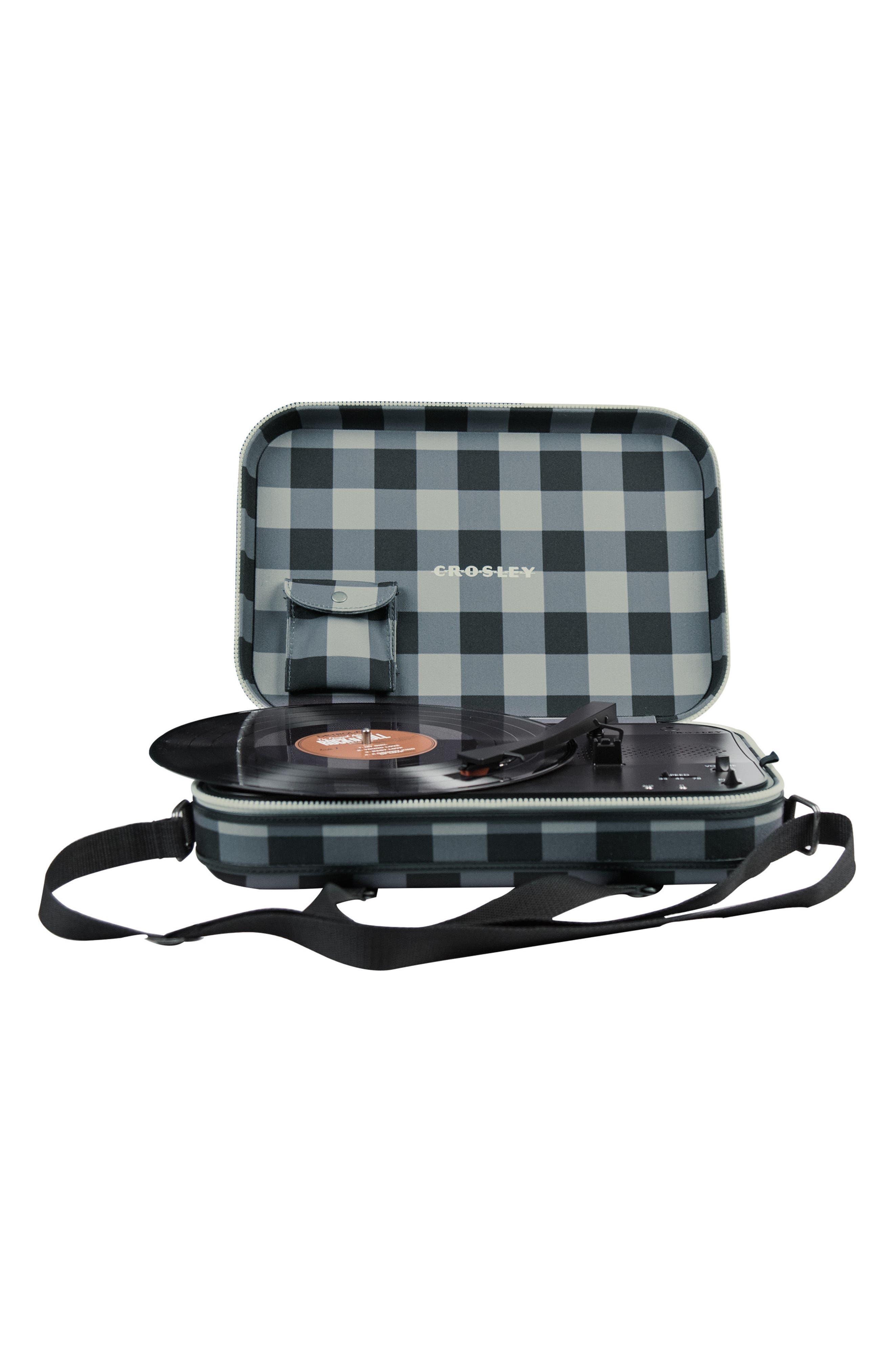 Messenger Turntable,                         Main,                         color, Grey Checkboard