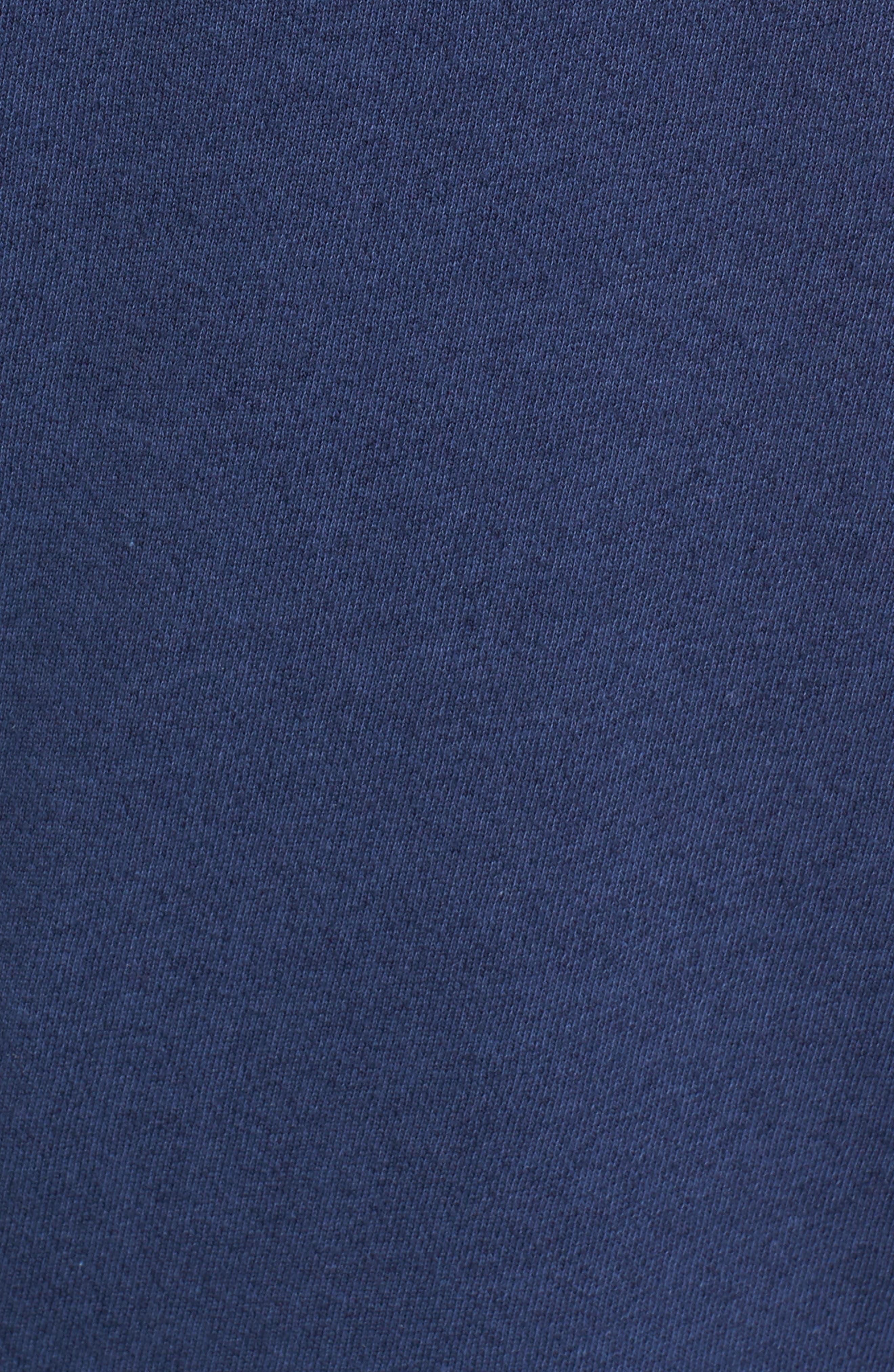 Print Detail Pocket Sweatshirt,                             Alternate thumbnail 5, color,                             Navy