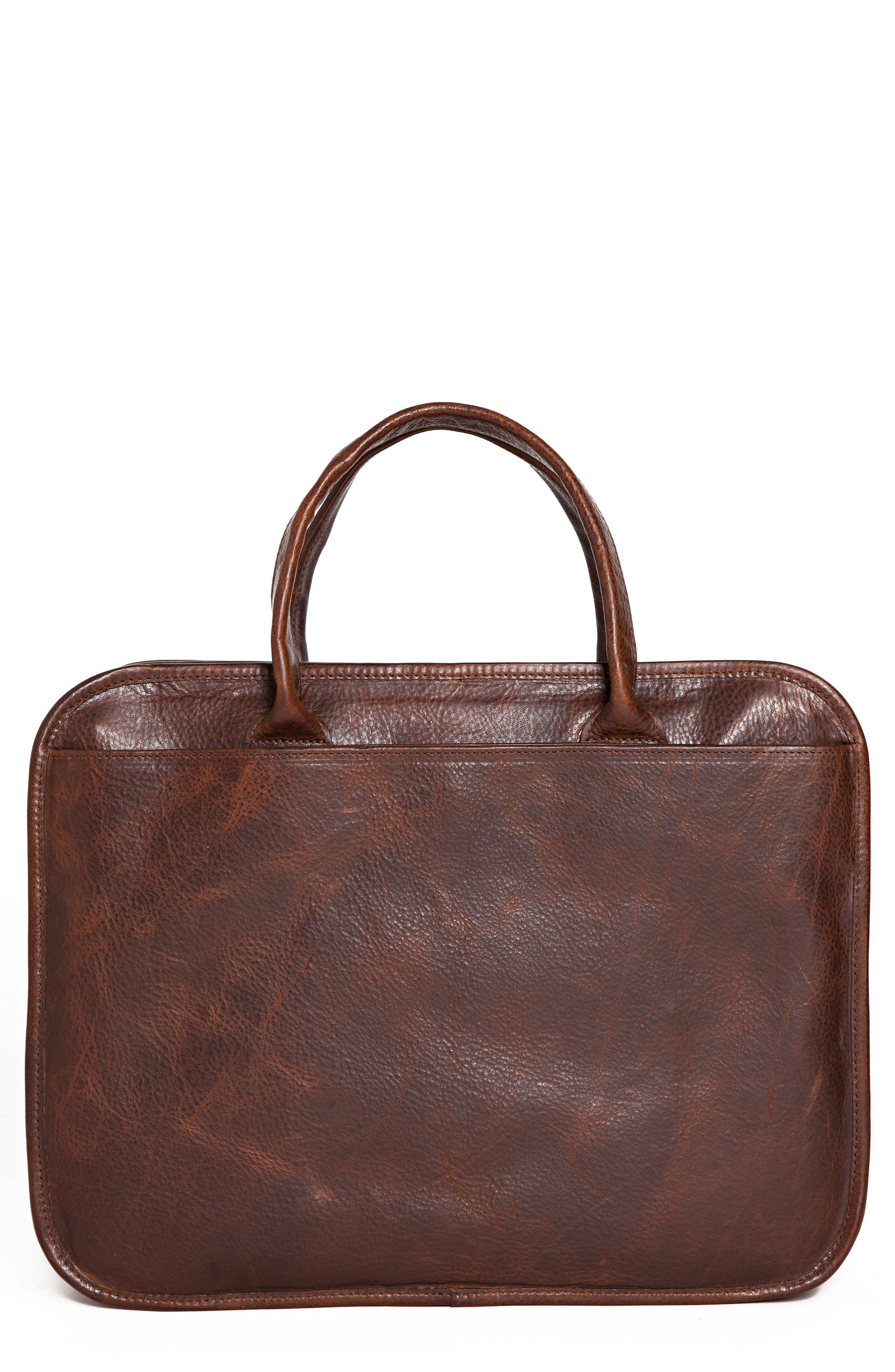 Miller Leather Briefcase,                             Main thumbnail 1, color,                             Titan Milled Brown