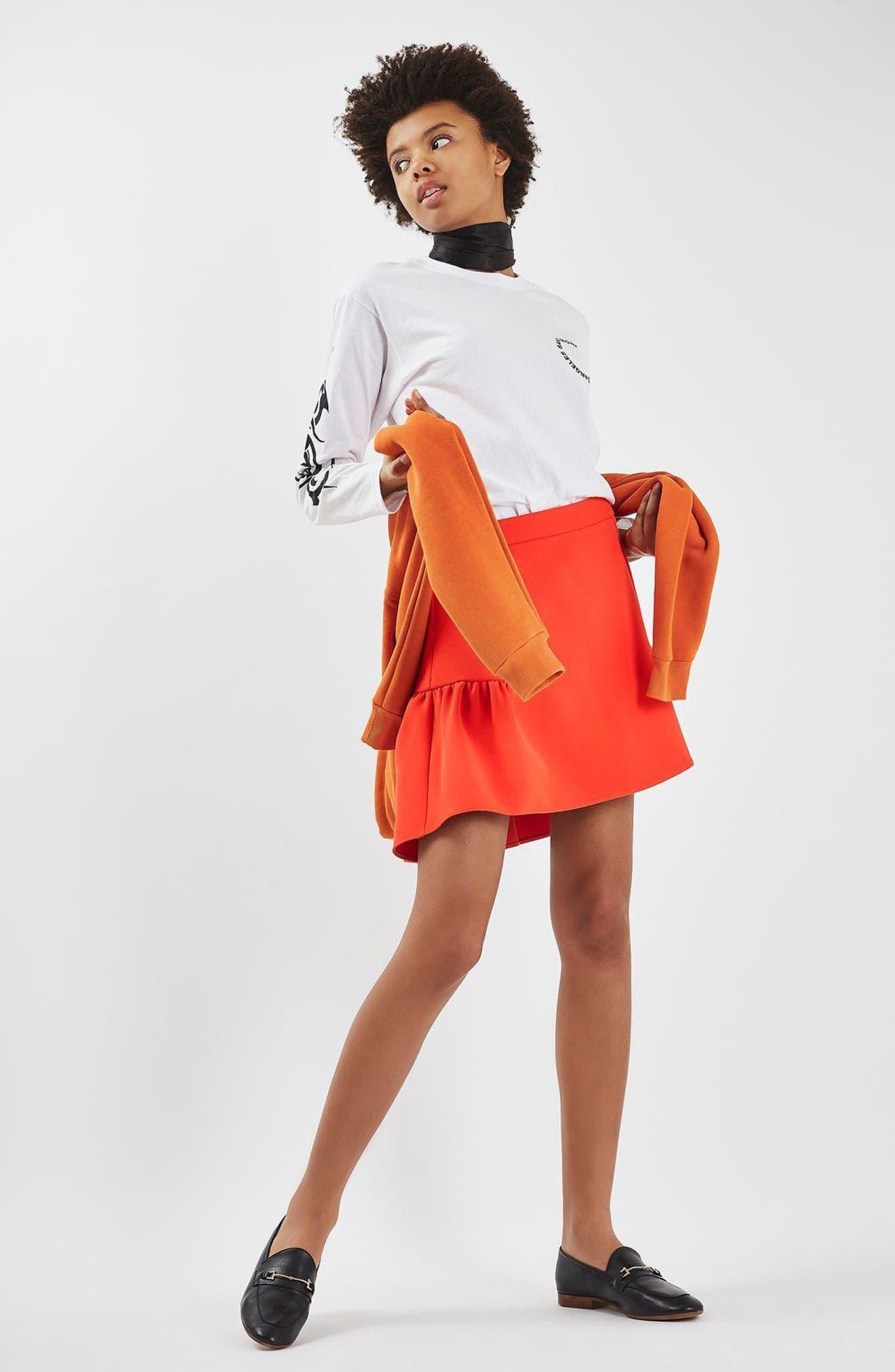 Alternate Image 2  - Topshop Peplum Skirt