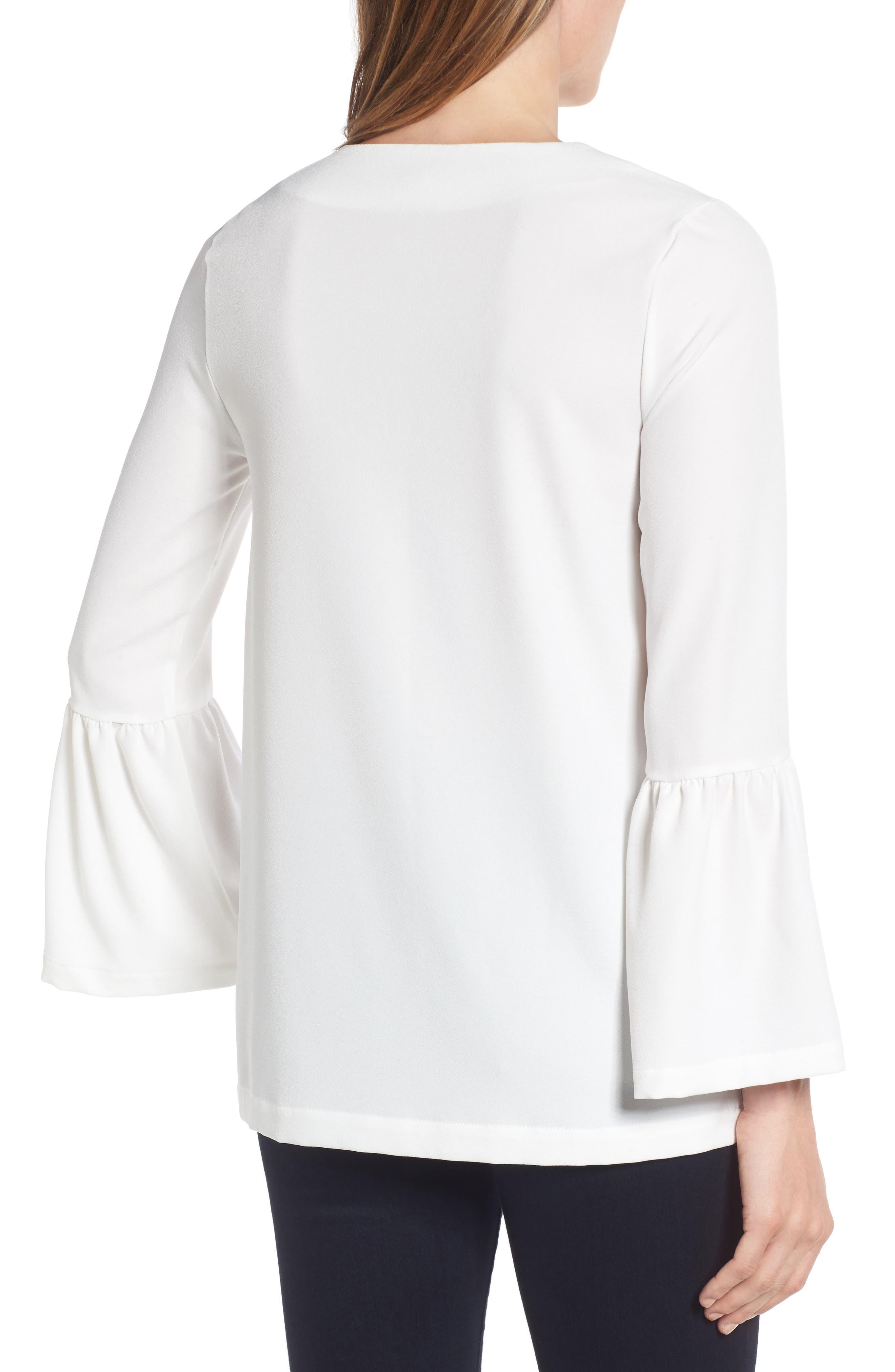 Alternate Image 2  - Halogen® Bell Sleeve Tunic (Regular & Petite)