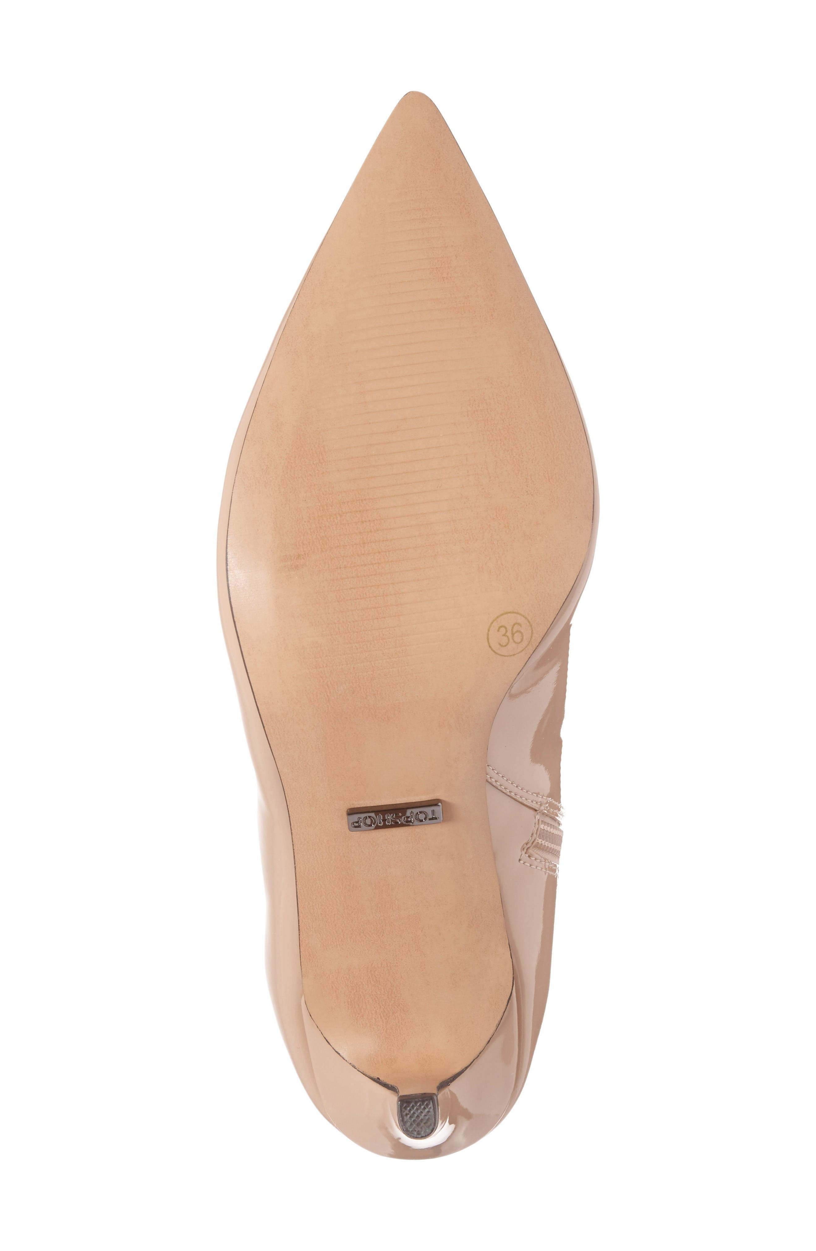 Mimosa Pointy Toe Bootie,                             Alternate thumbnail 4, color,                             Nude