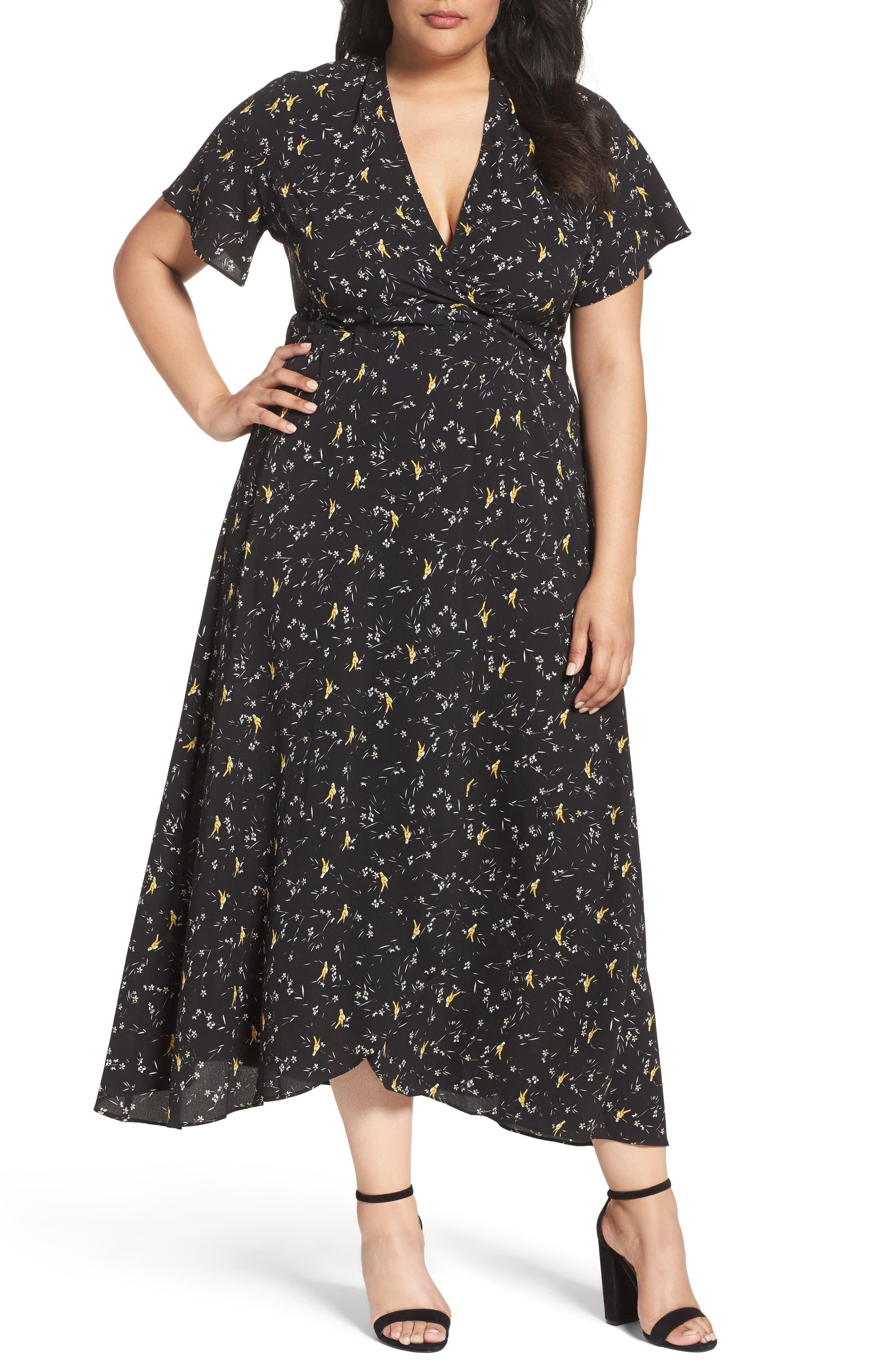 Alternate Image 1 Selected - Glamorous Print Maxi Dress (Plus Size)