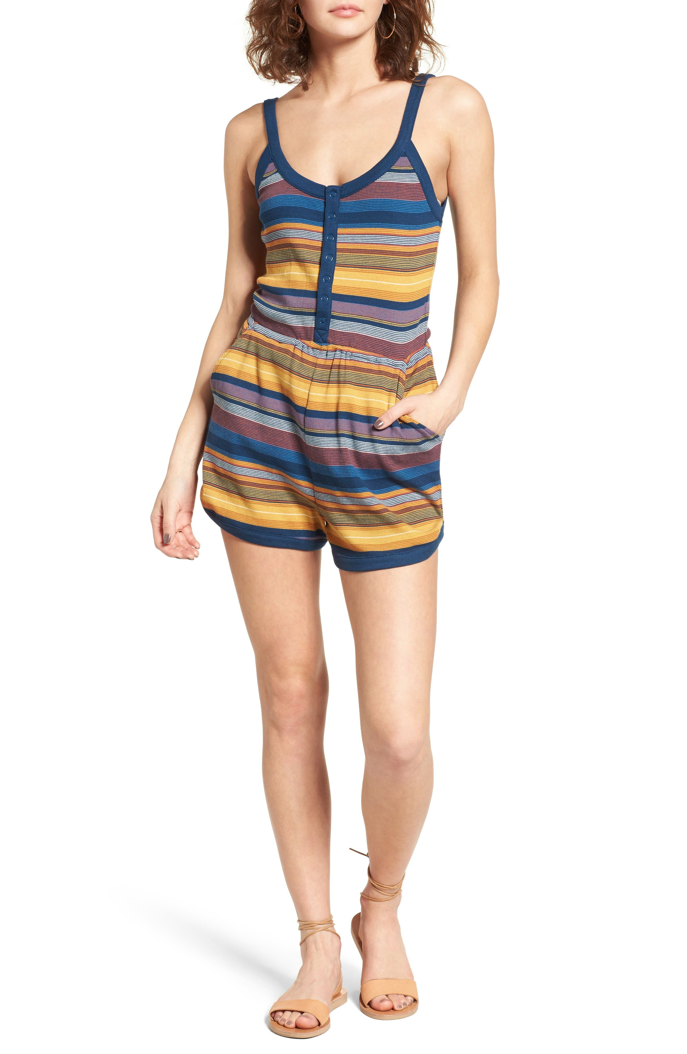 RVCA About Face Stripe Romper