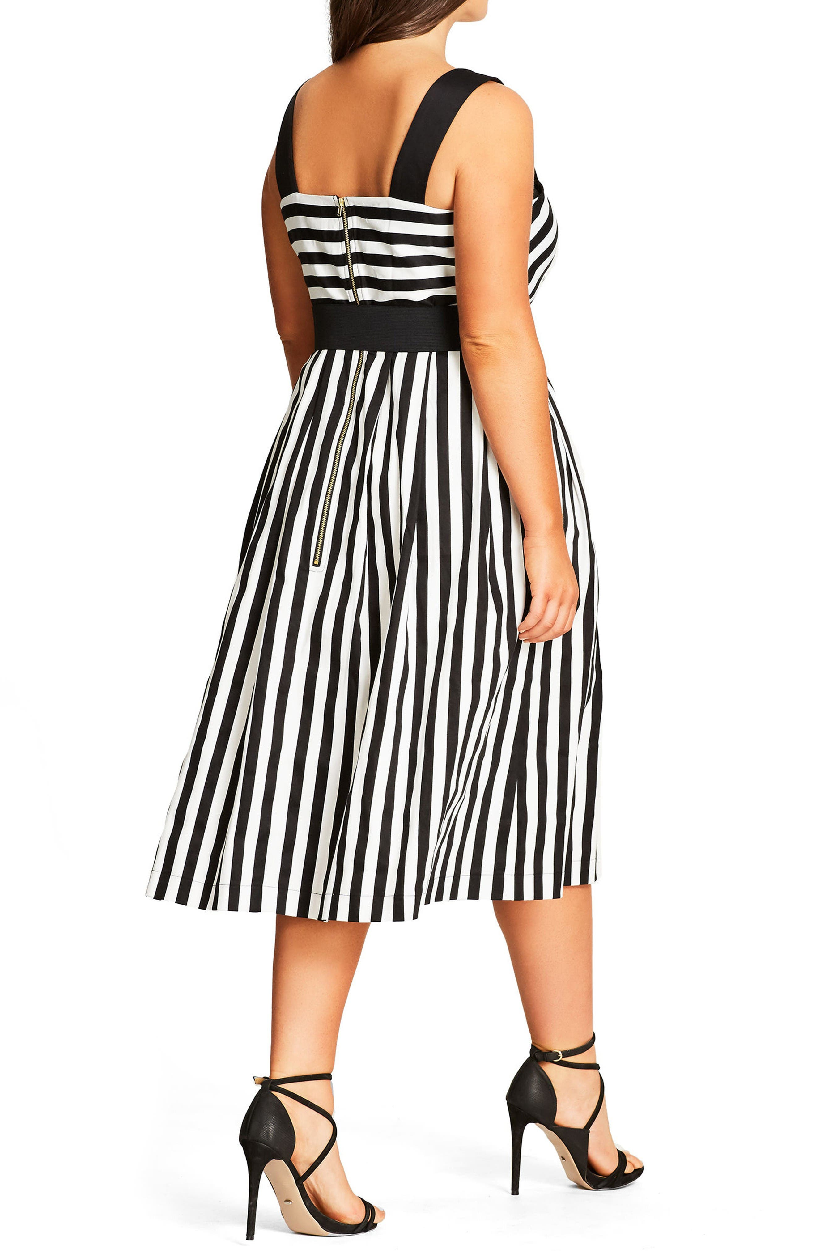 Alternate Image 2  - City Chic So Fab Stripe Sundress (Plus Size)