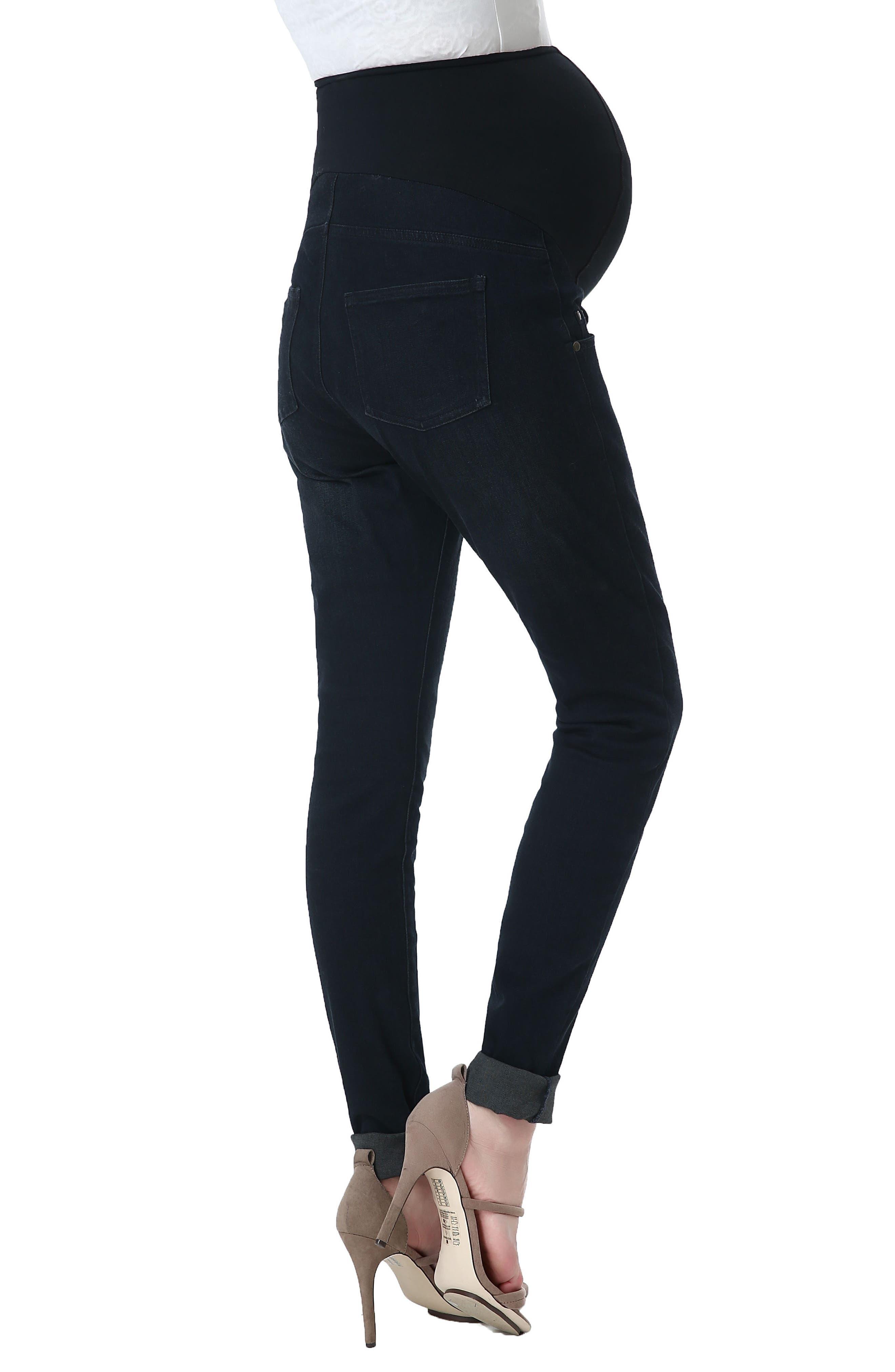 Alternate Image 4  - Kimi and Kai Rae Maternity Skinny Jeans