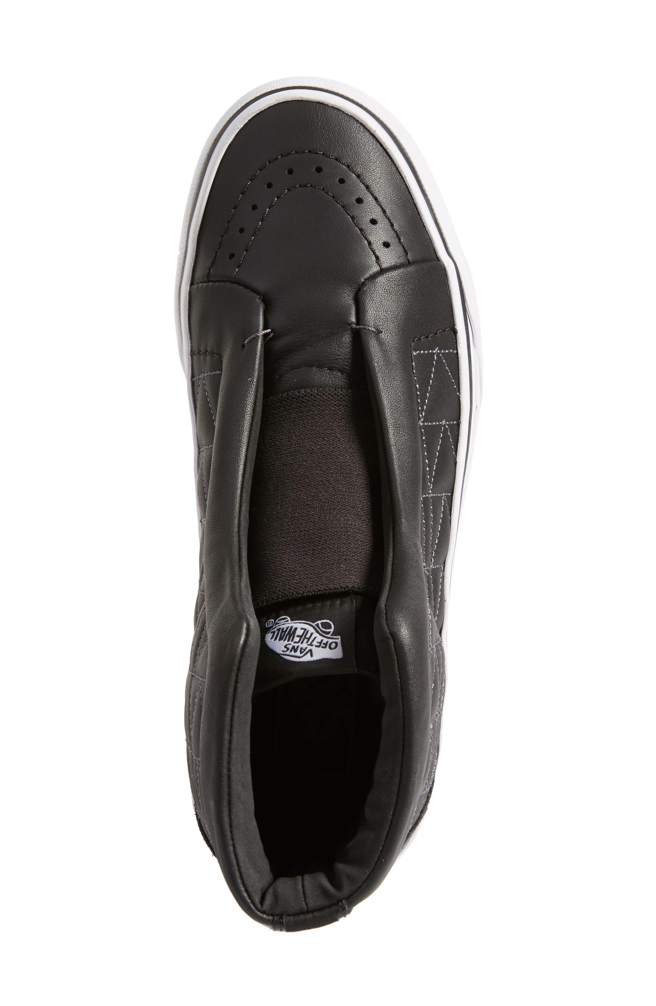 Alternate Image 4  - Vans x KARL LAGERFELD SK8-Hi Leather Sneaker (Women)