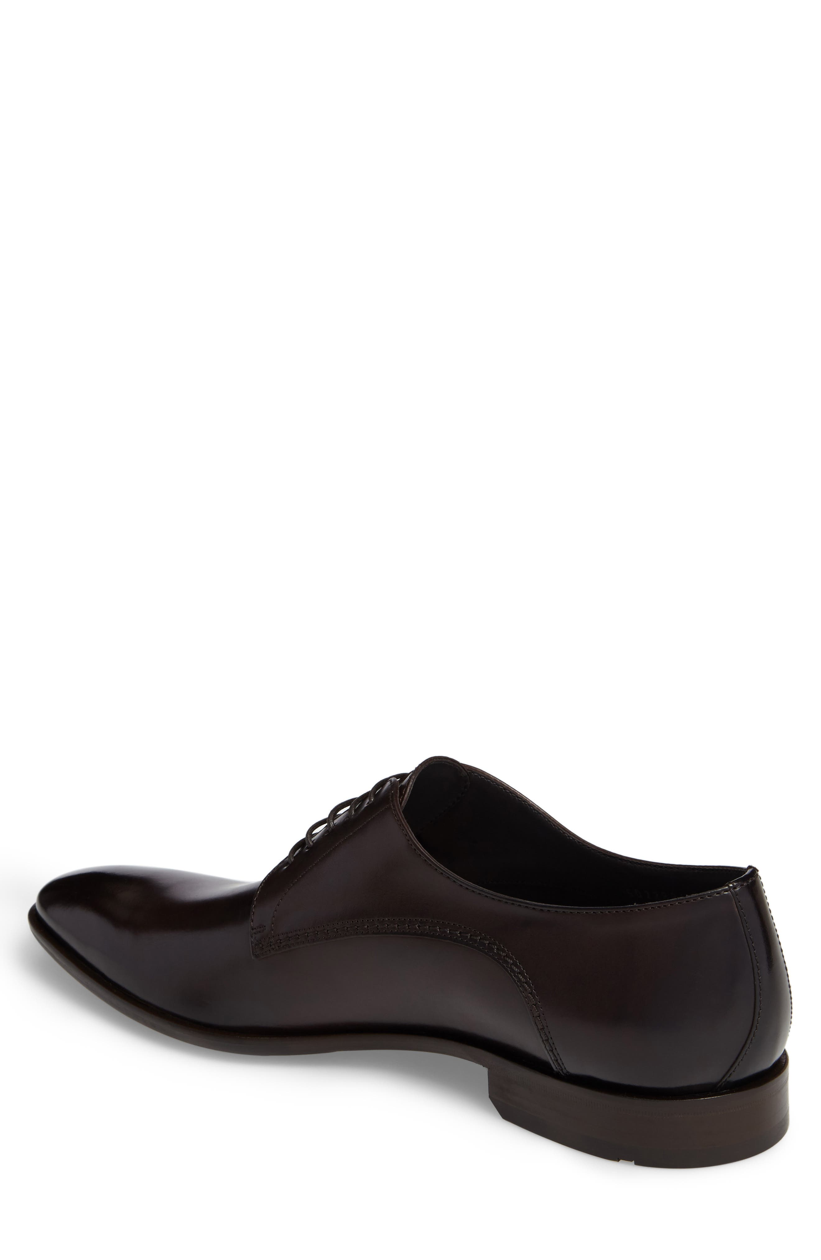 Carmons Plain Toe Derby,                             Alternate thumbnail 2, color,                             Dark Brown Leather