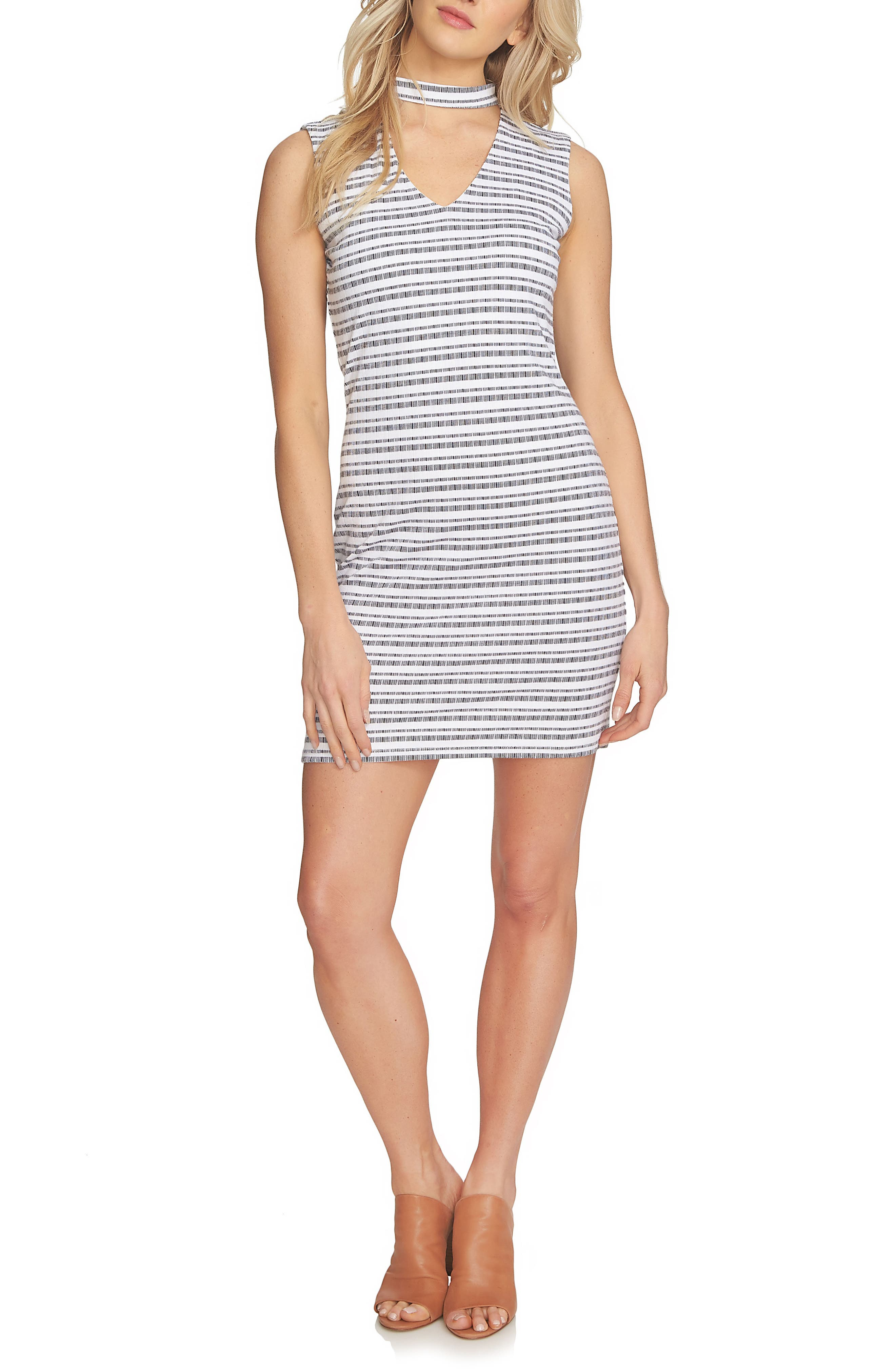 1.STATE Stripe Body-Con Dress