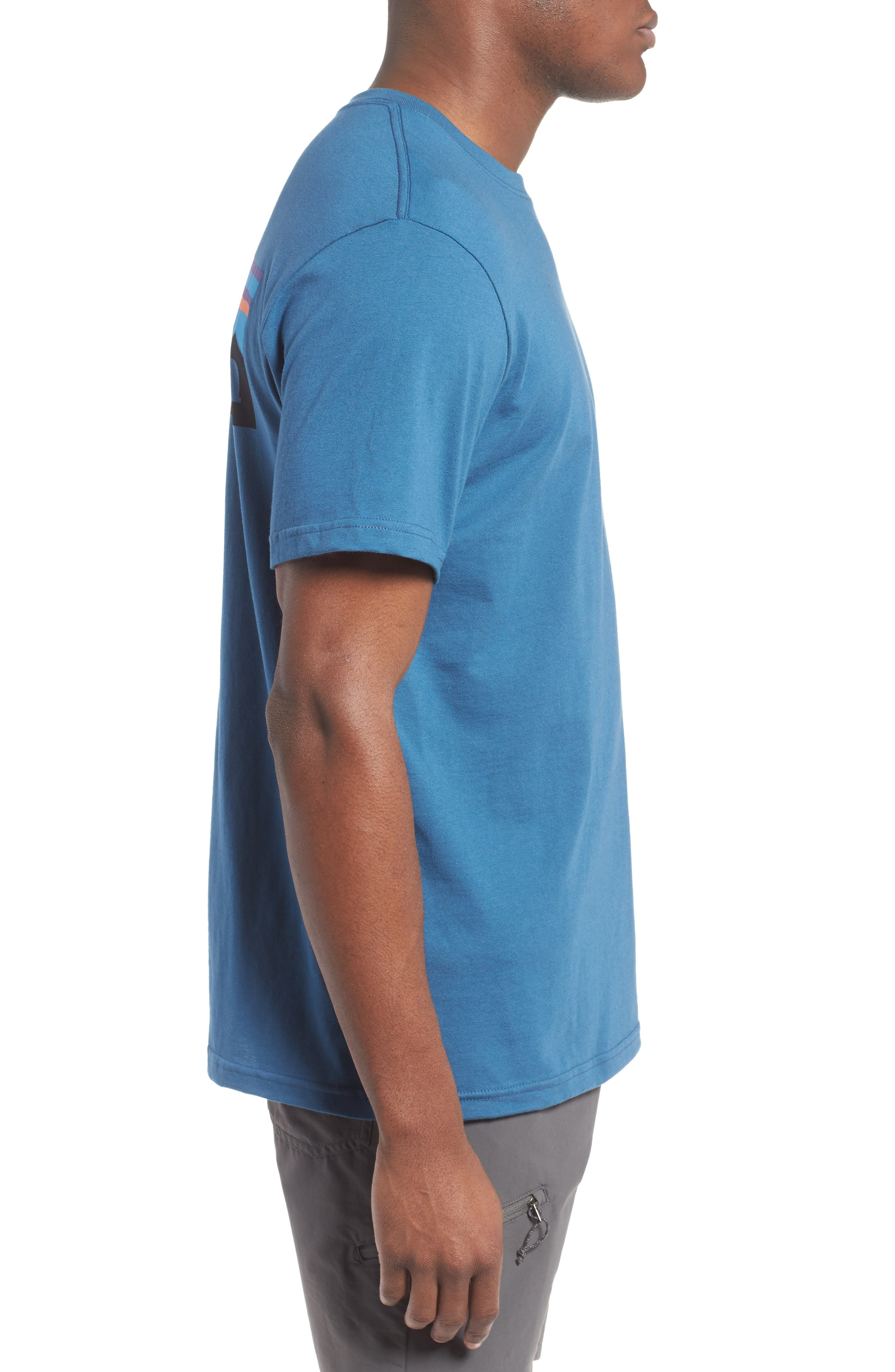 'P-6 Logo' Organic Cotton T-Shirt,                             Alternate thumbnail 3, color,                             Glass Blue
