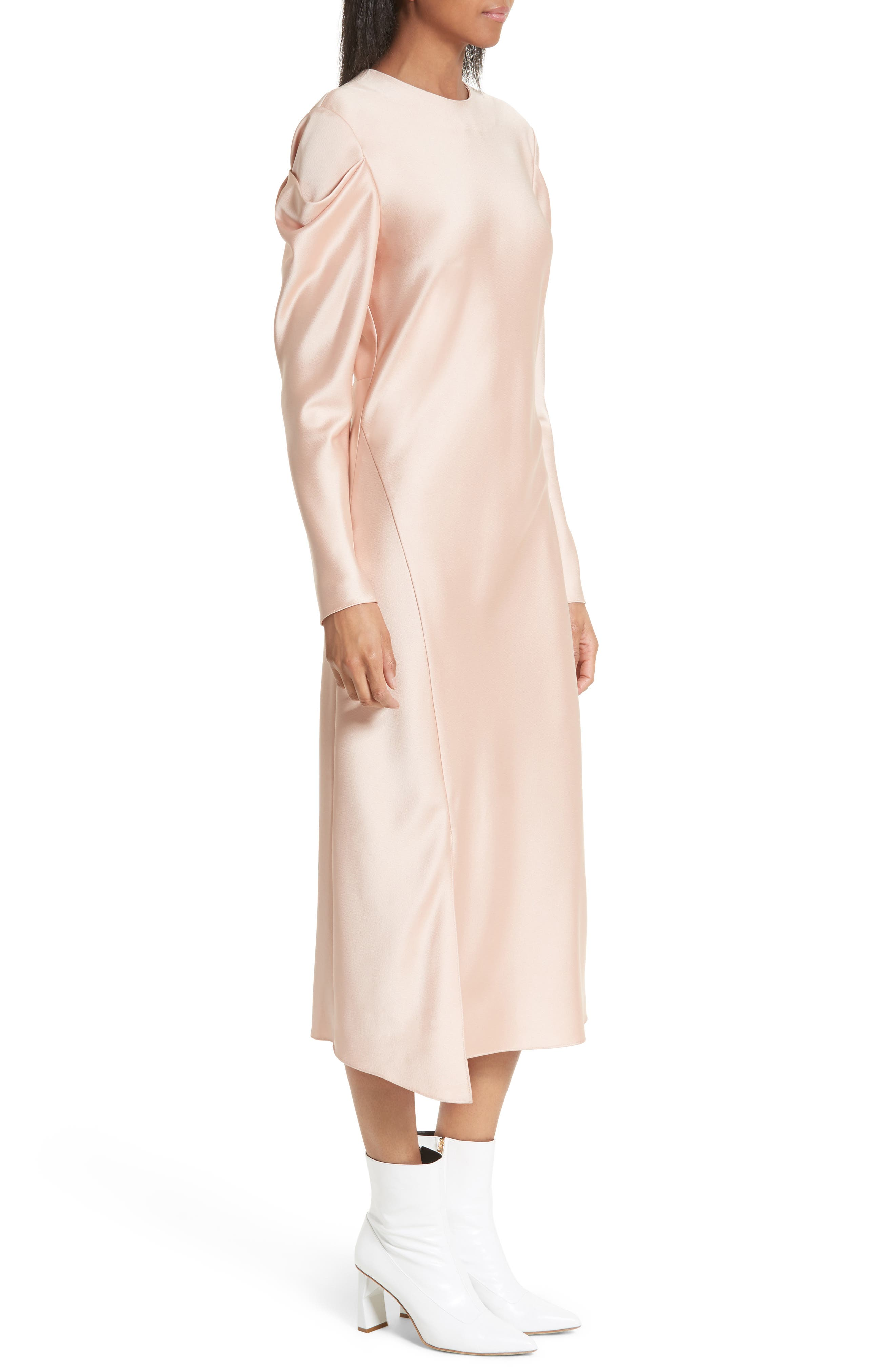 Celestia Drape Sleeve Midi Dress,                             Alternate thumbnail 3, color,                             Blush
