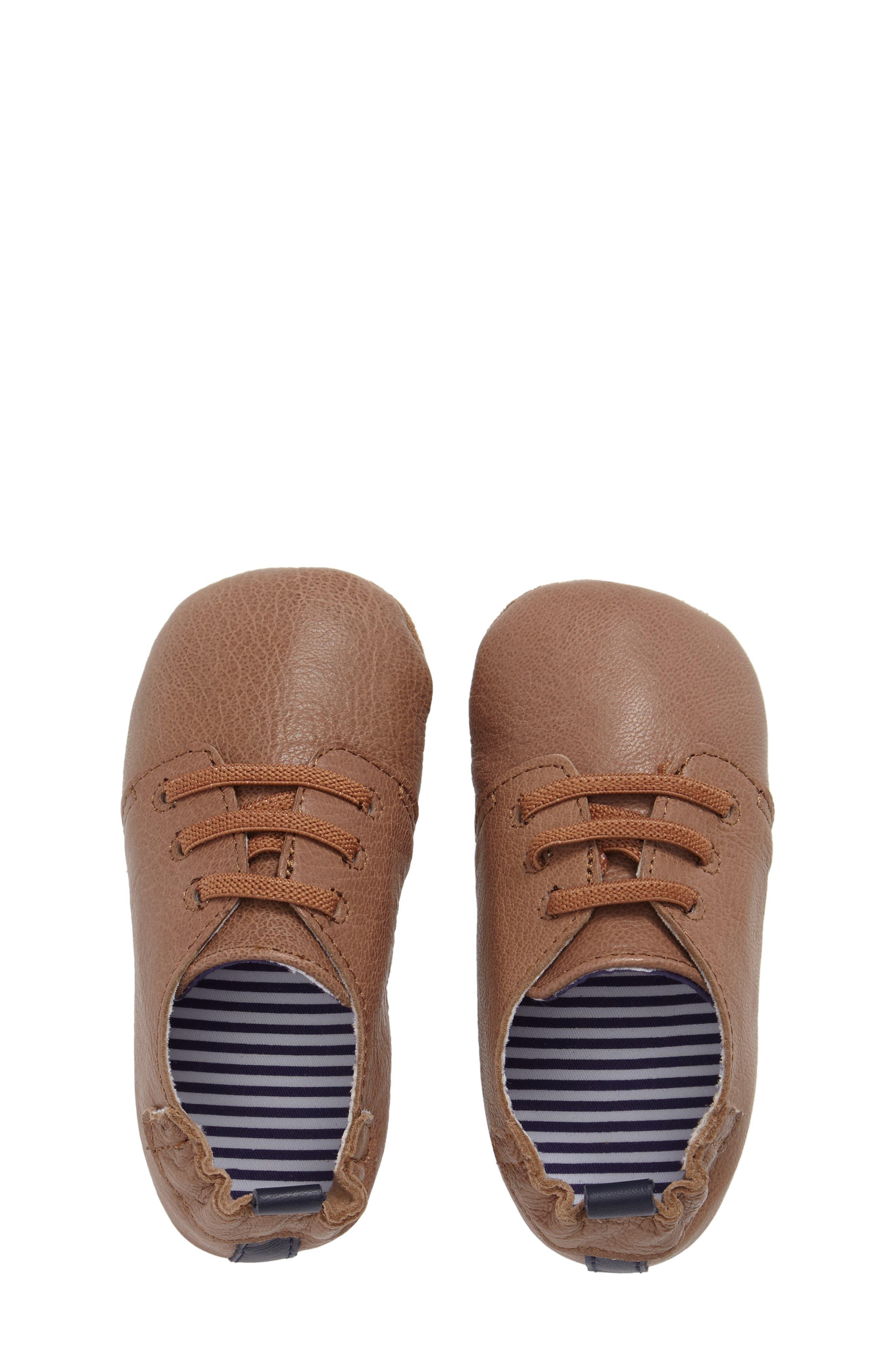 Alternate Image 5  - Robeez® Owen Crib Shoe (Baby & Walker)