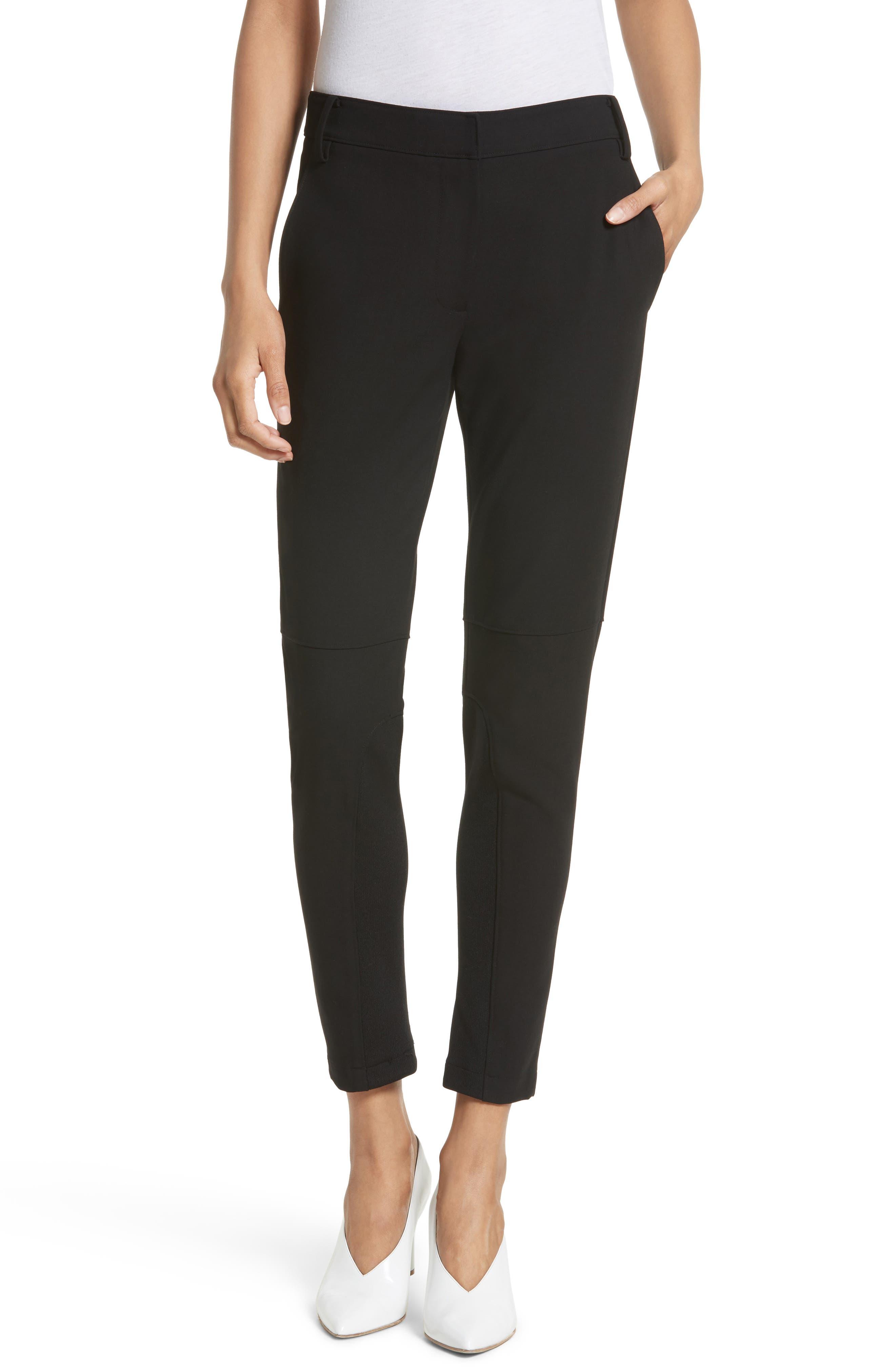 Anson Stretch Insert Ankle Pants,                         Main,                         color, Black