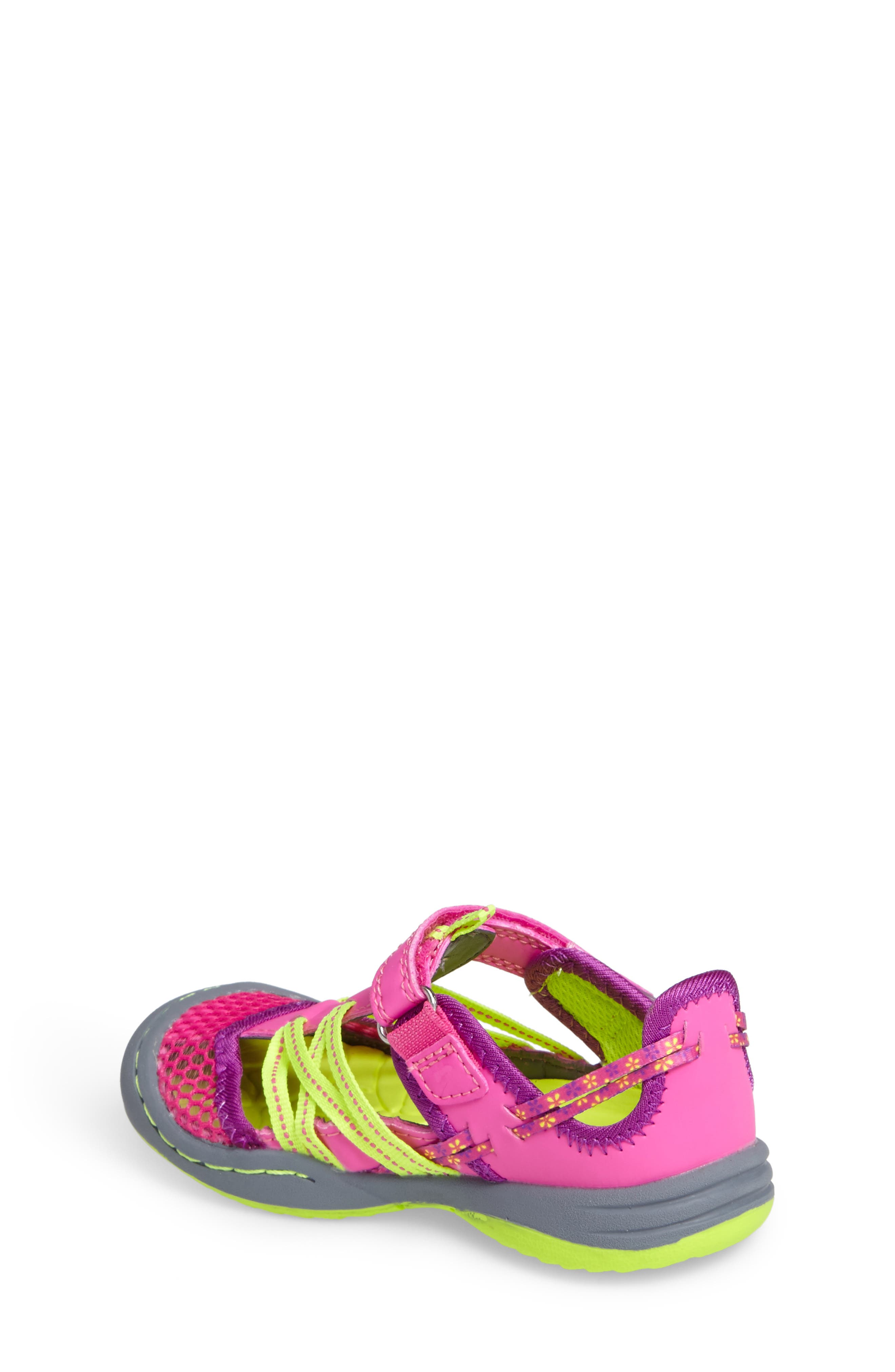 Everly Water Sport Fisherman Sandal,                             Alternate thumbnail 2, color,                             Pink/ Neon