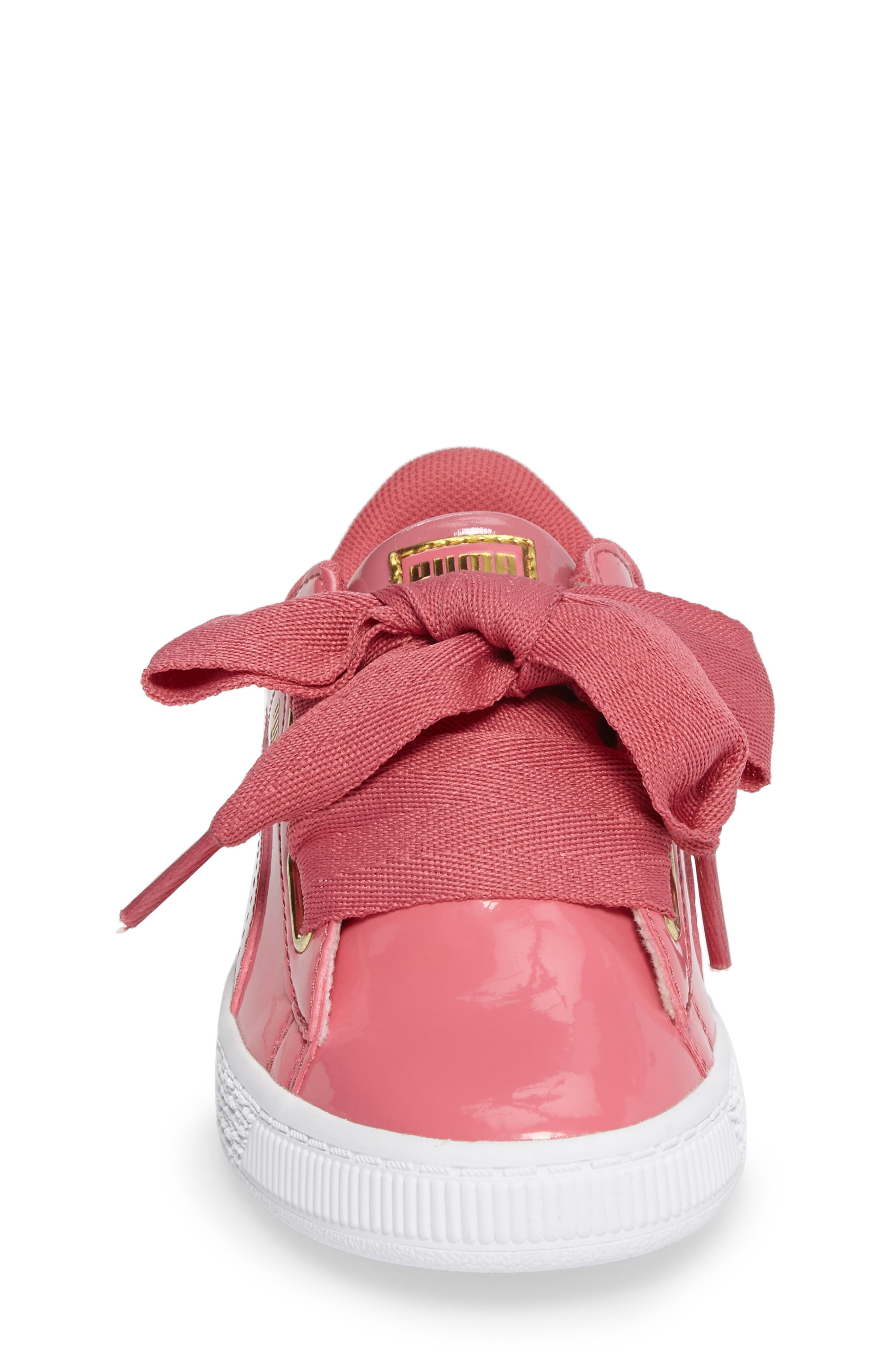 Basket Heart Sneaker,                             Alternate thumbnail 4, color,                             Rapture Rose/ Puma Team Gold