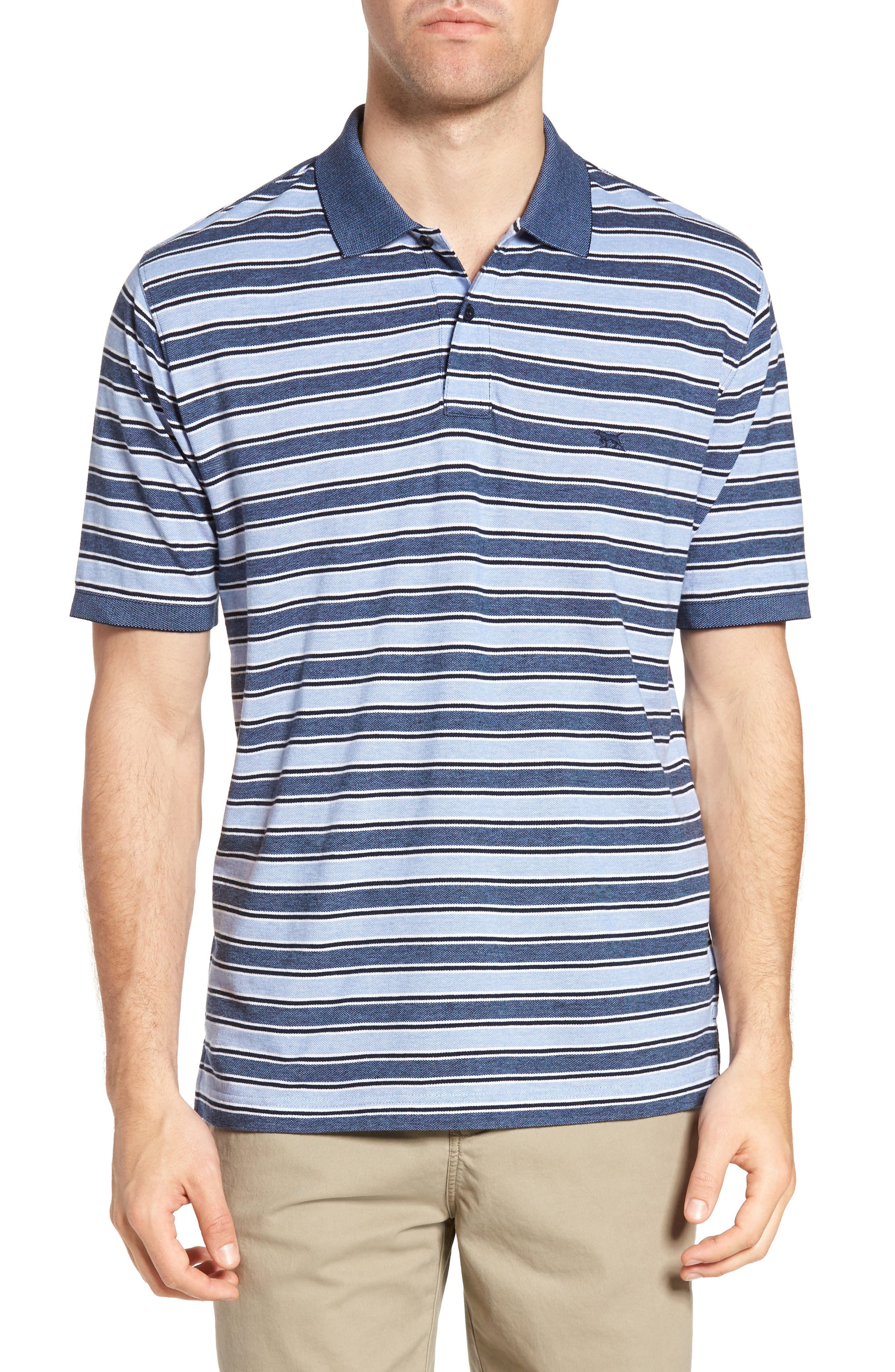 Main Image - Rodd & Gunn Sandy Point Stripe Piqué Polo