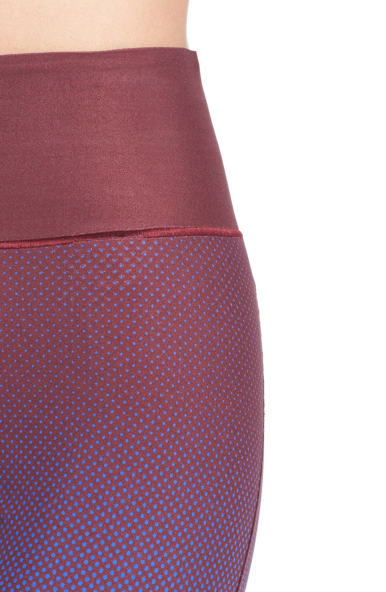 Training Tights,                             Alternate thumbnail 4, color,                             Cherry Wood/ Bold Blue