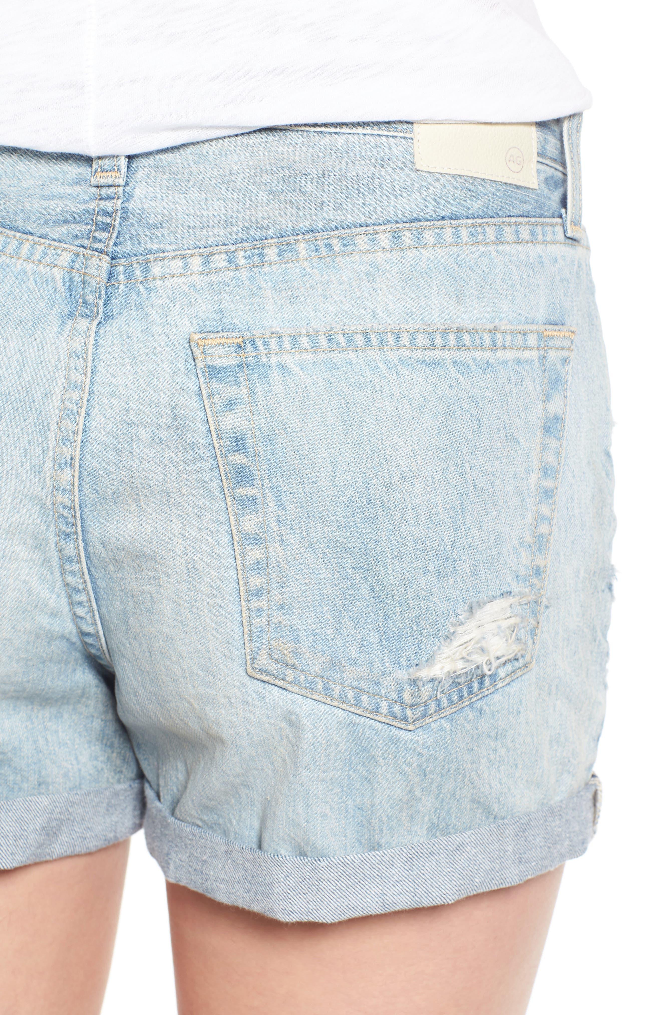 Alternate Image 4  - AG 'Alex' High Rise Cuffed Denim Shorts (22 Years Fearless)