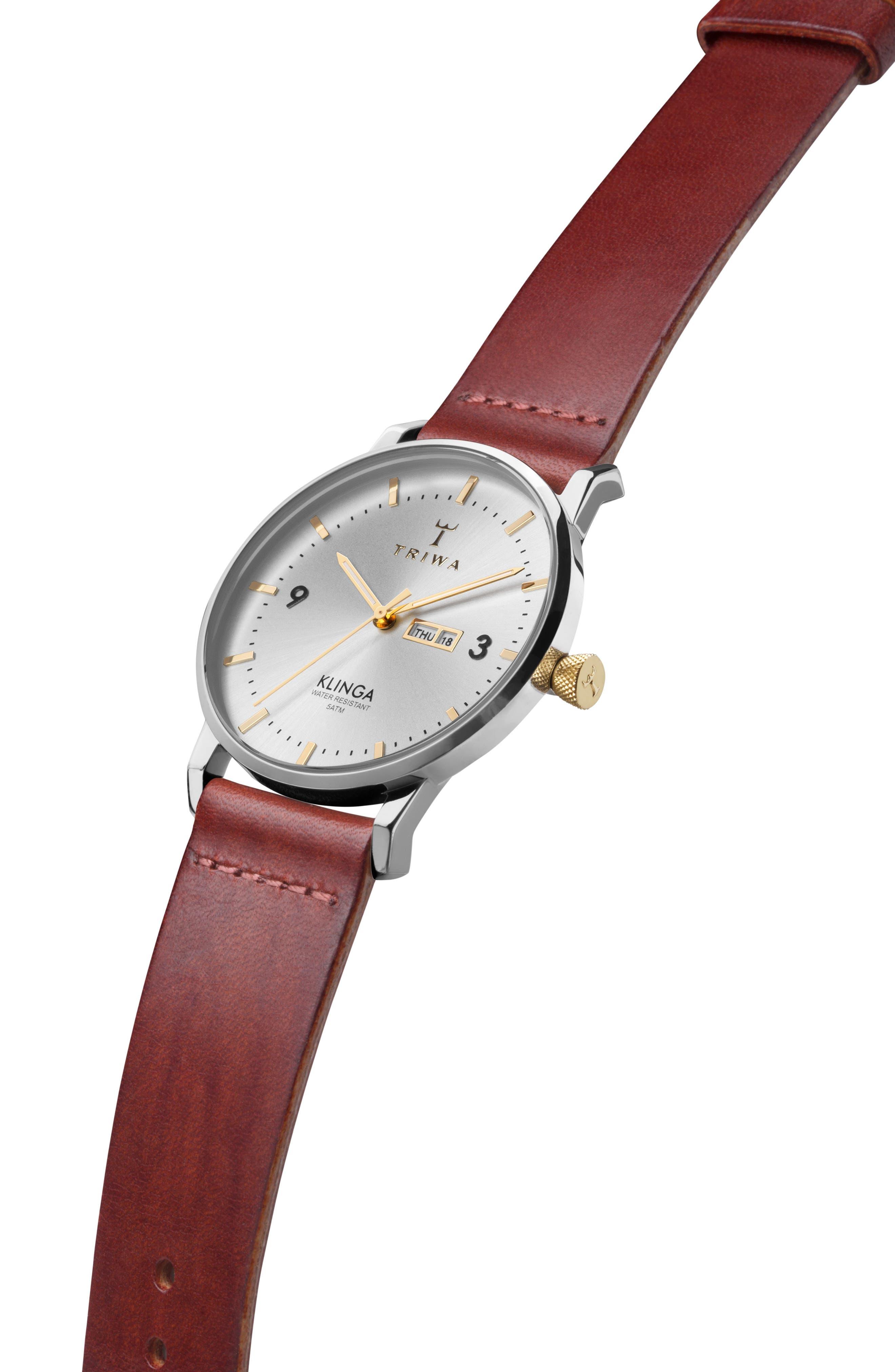 Alternate Image 2  - TRIWA Klinga Leather Strap Watch, 38mm