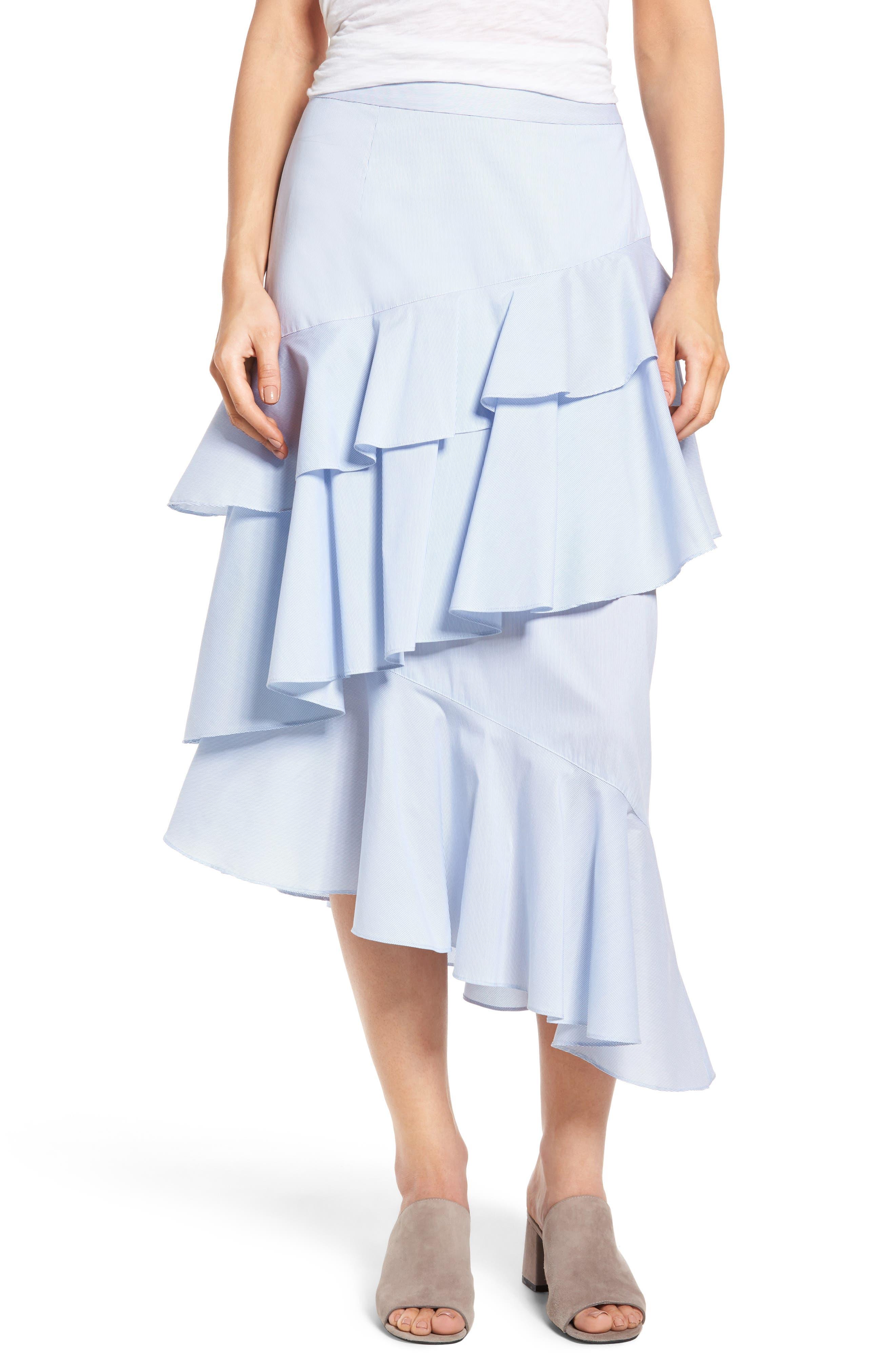Main Image - Chelsea28 Ruffle Midi Skirt