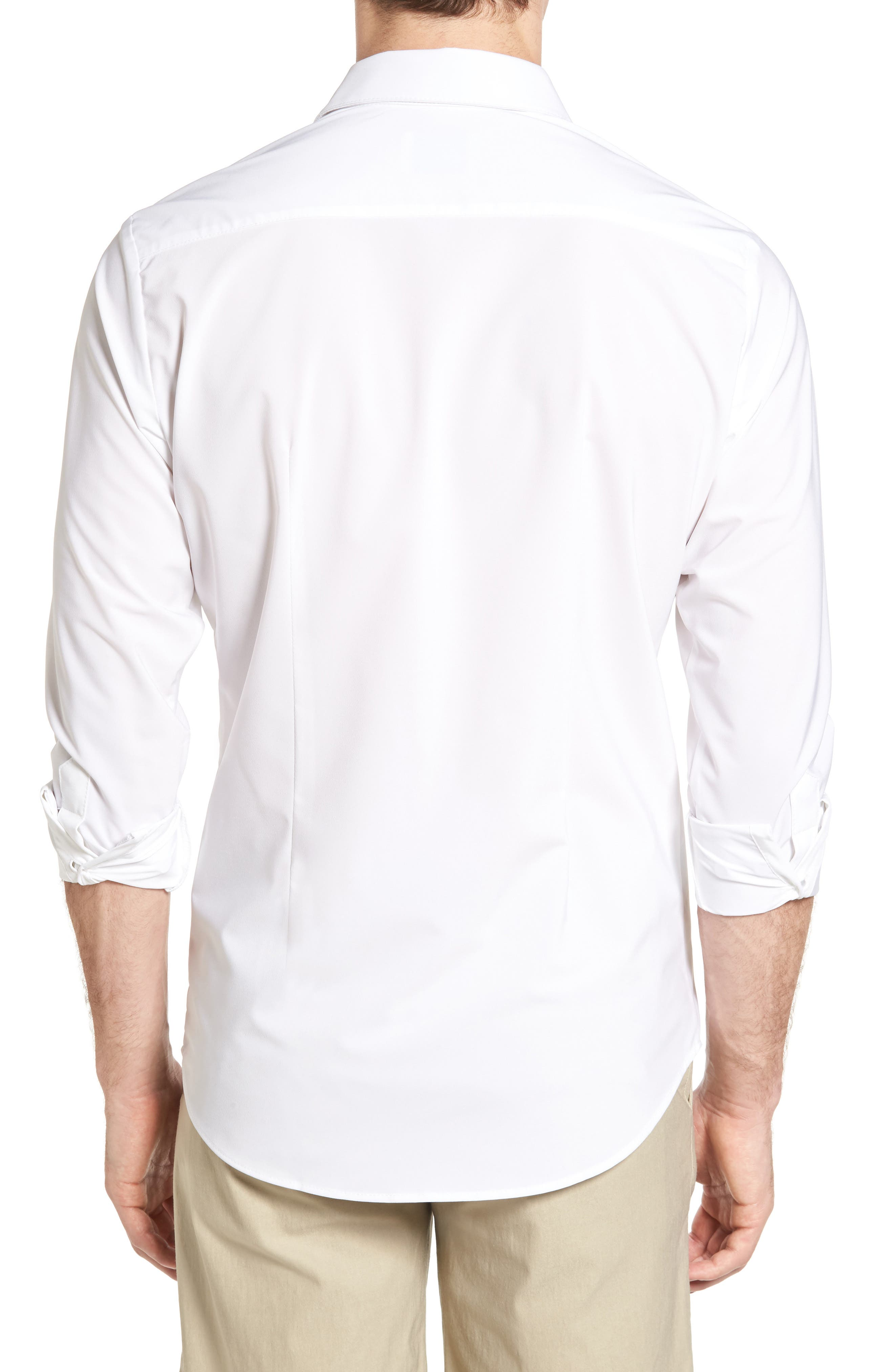 Manhattan Sport Shirt,                             Alternate thumbnail 3, color,                             White
