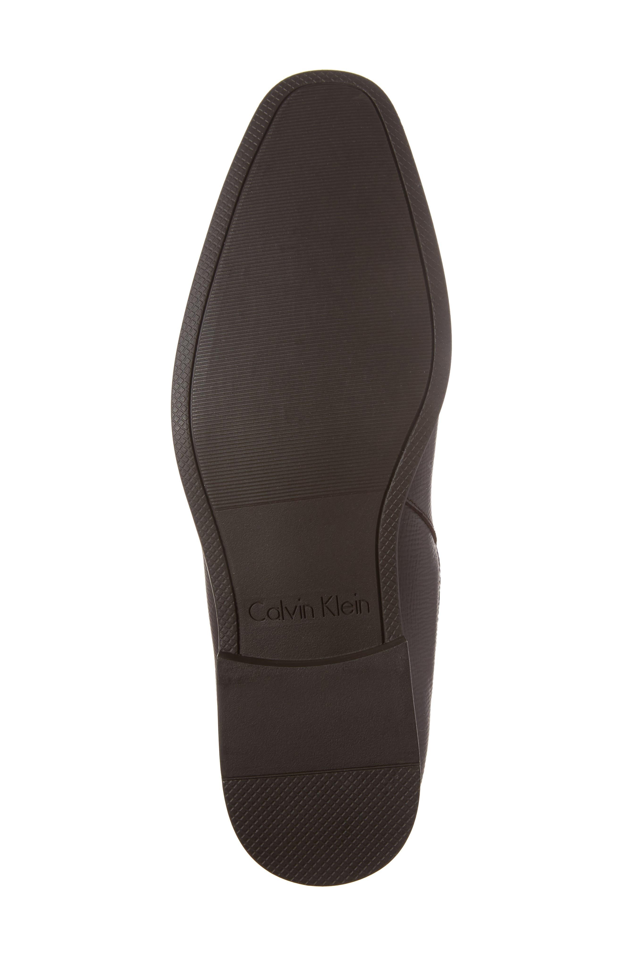 Christoff Chelsea Boot,                             Alternate thumbnail 6, color,                             Dark Brown Epi Leather