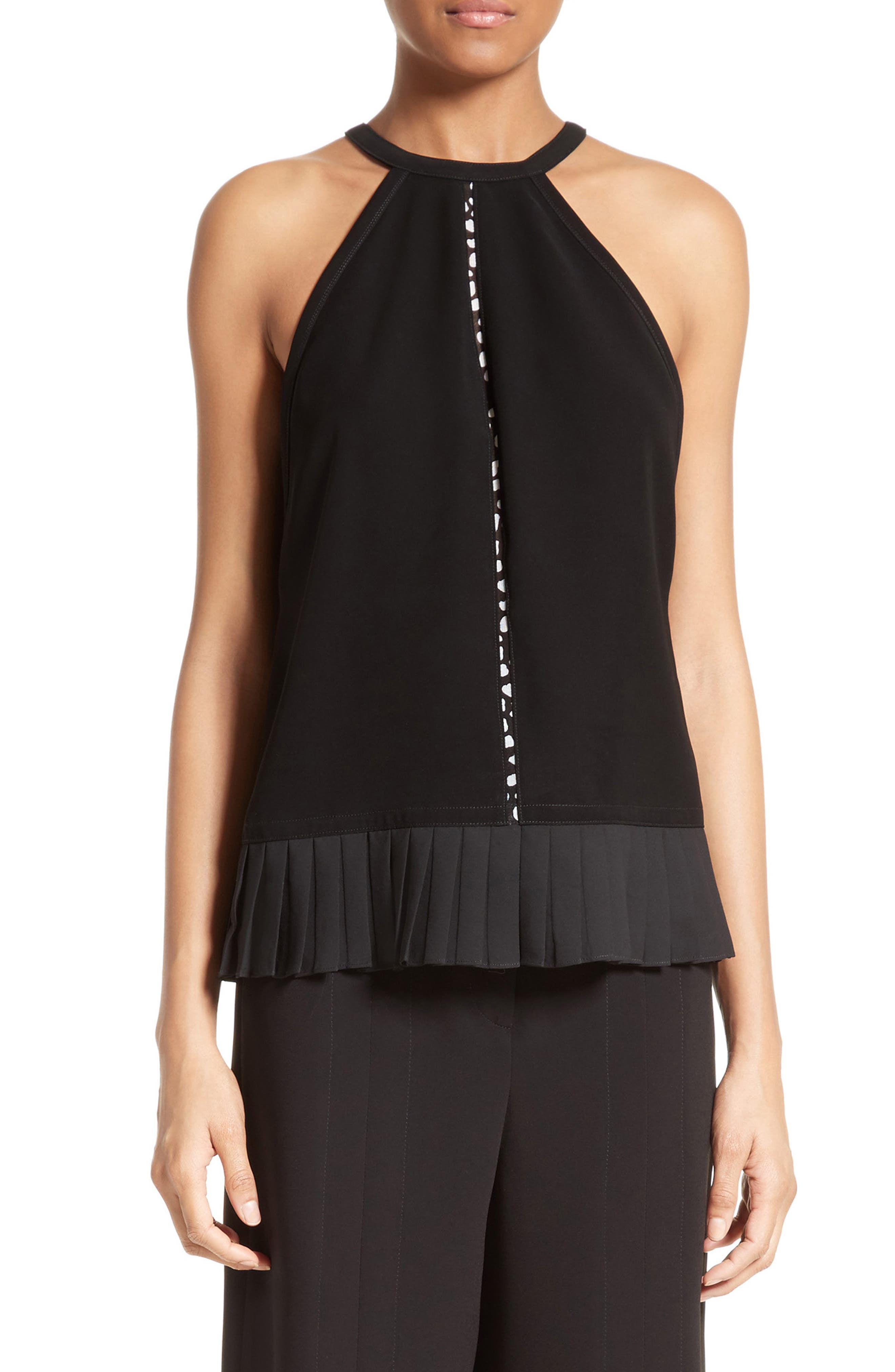 Yigal Azrouël Pleated Halter Top
